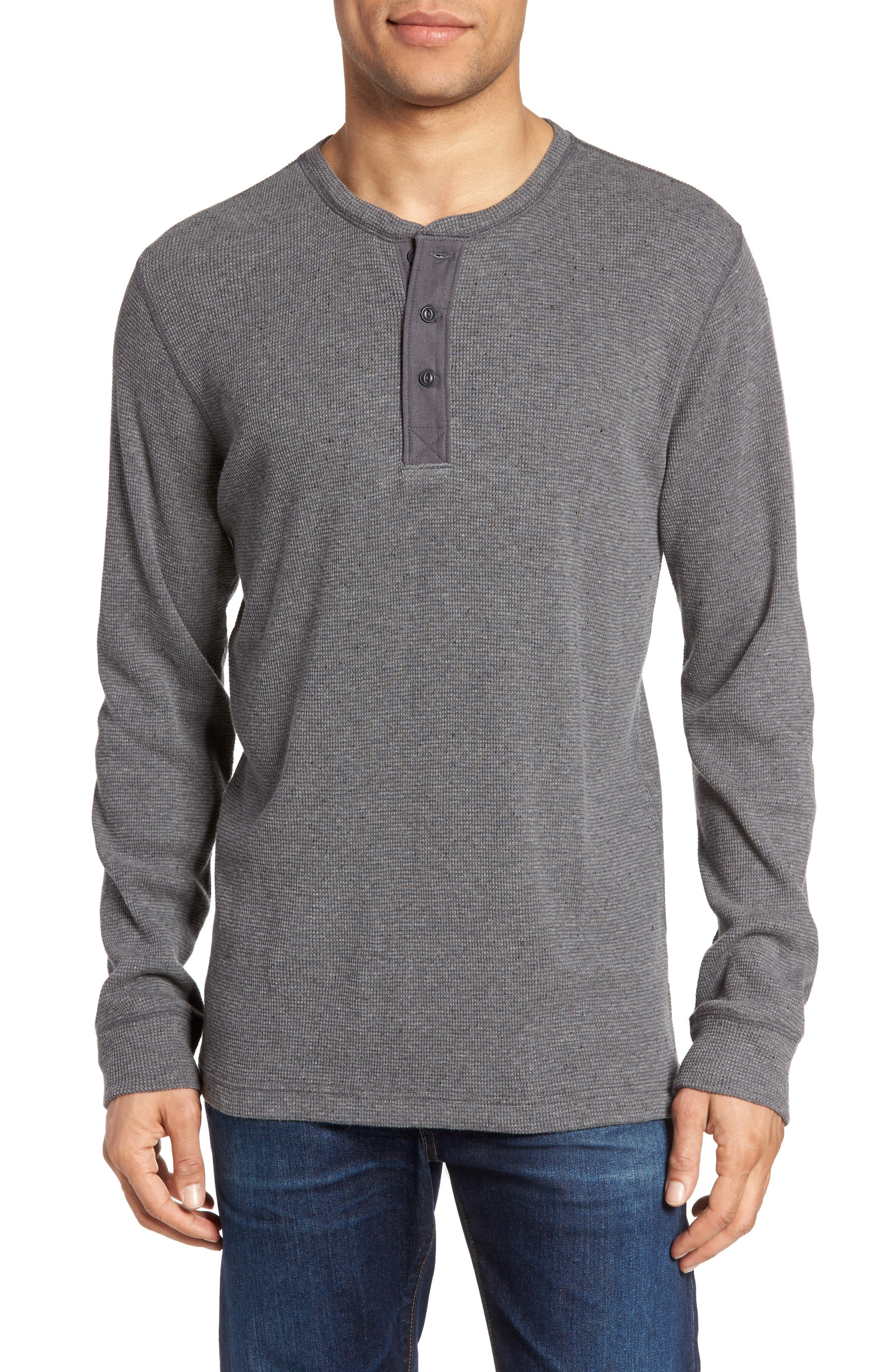 Nordstrom Men's Shop Waffle Knit Thermal Henley