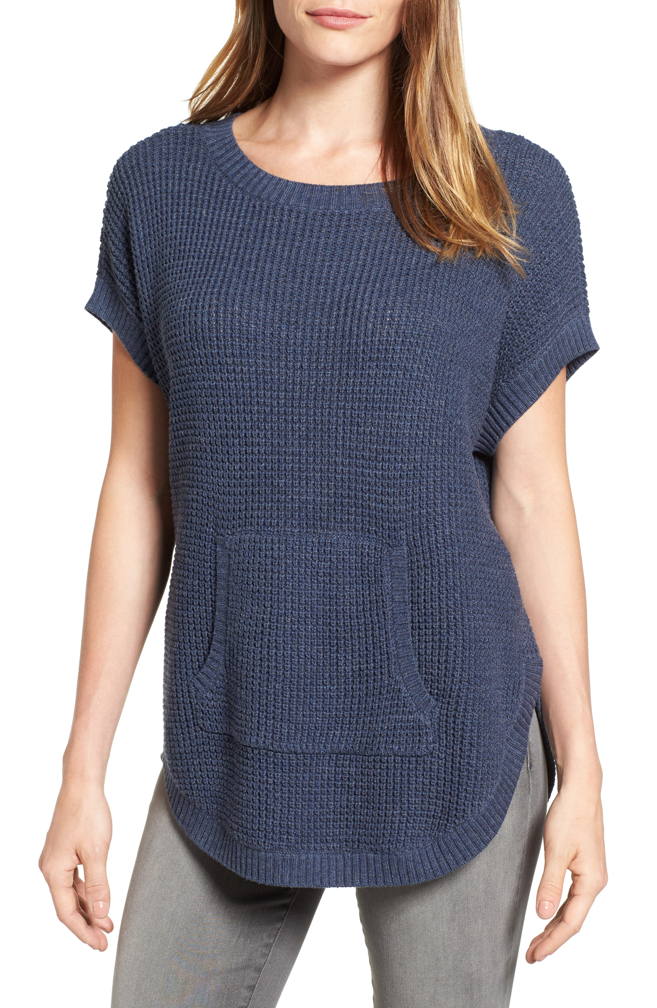 Two by Vince Camuto Waffle Stitch Sweater