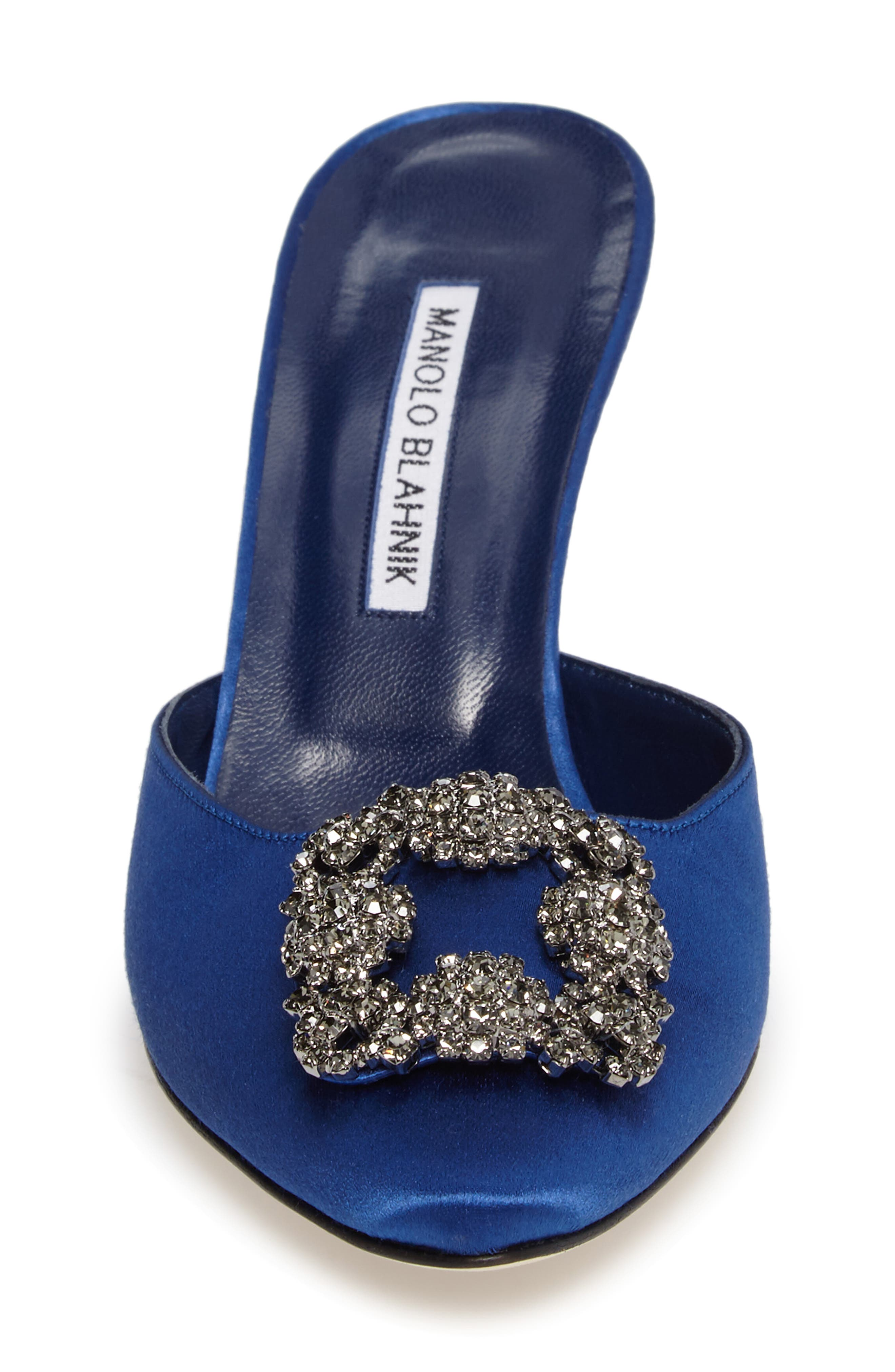 Alternate Image 4  - Manolo Blahnik Hangisi Embellished Mule (Women)
