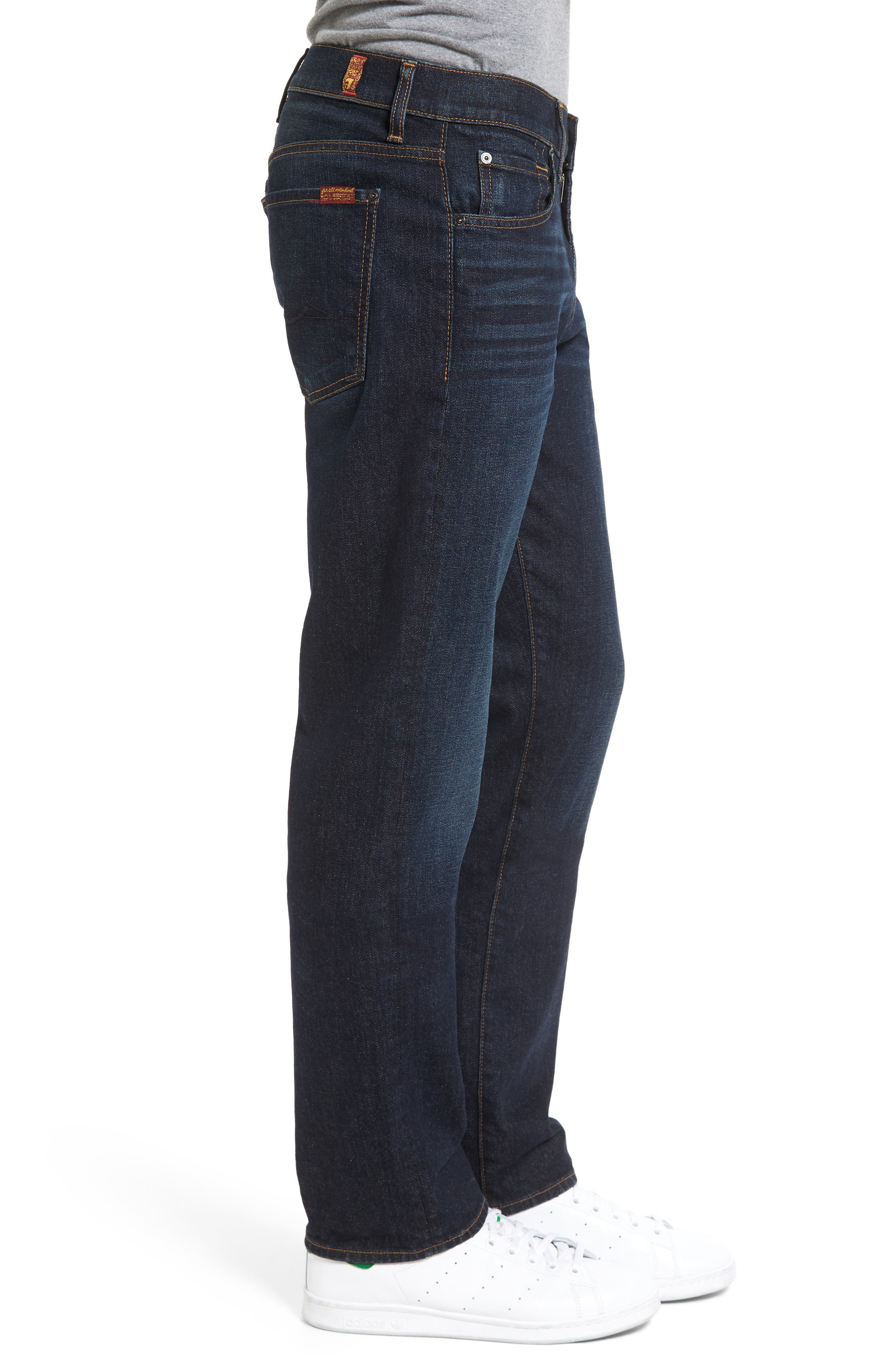 Alternate Image 3  - 7 For All Mankind® Standard Straight Leg Jeans (Pike)