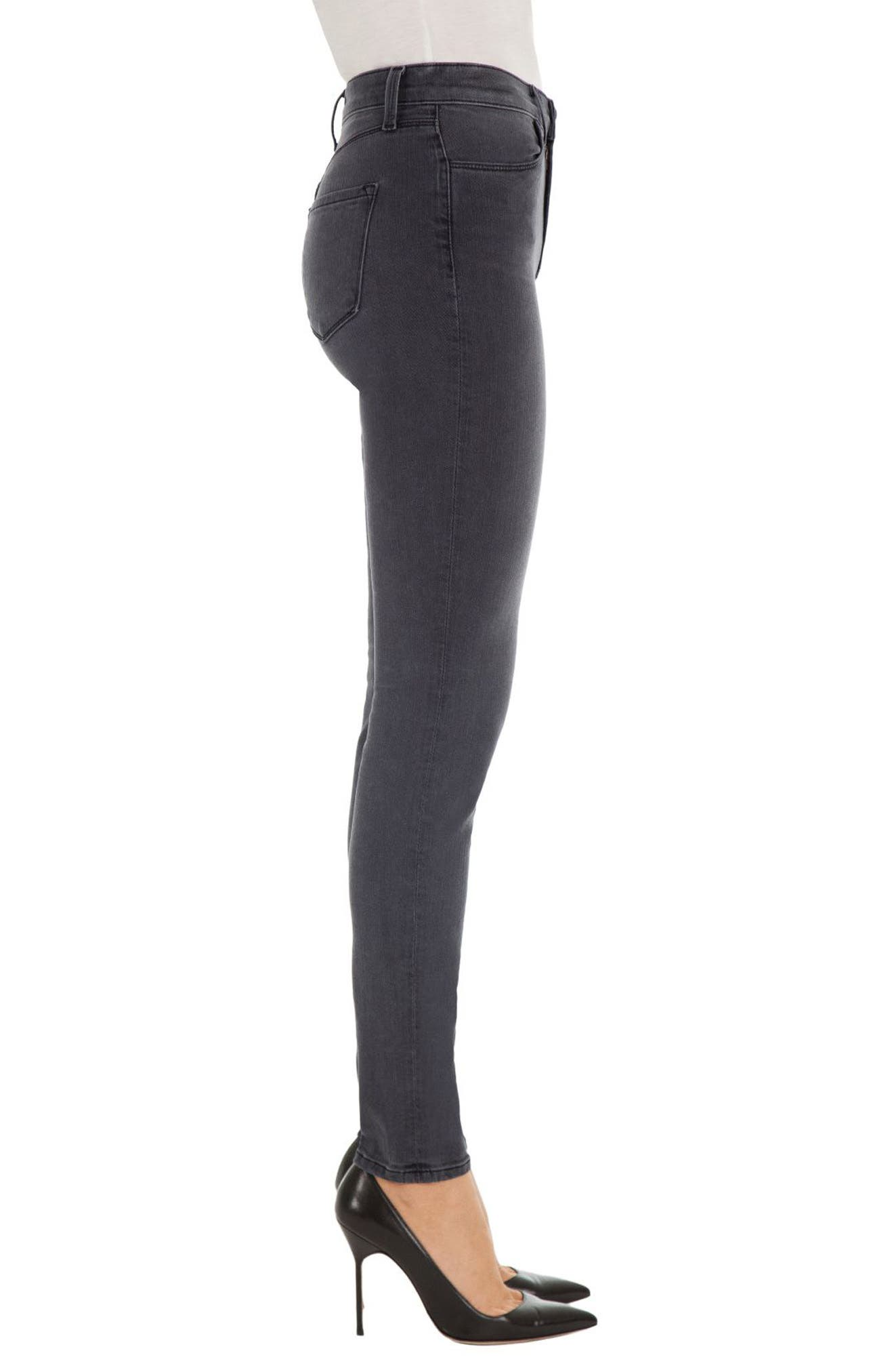 Alternate Image 3  - J Brand Maria High Waist Skinny Jeans (Nightbird)