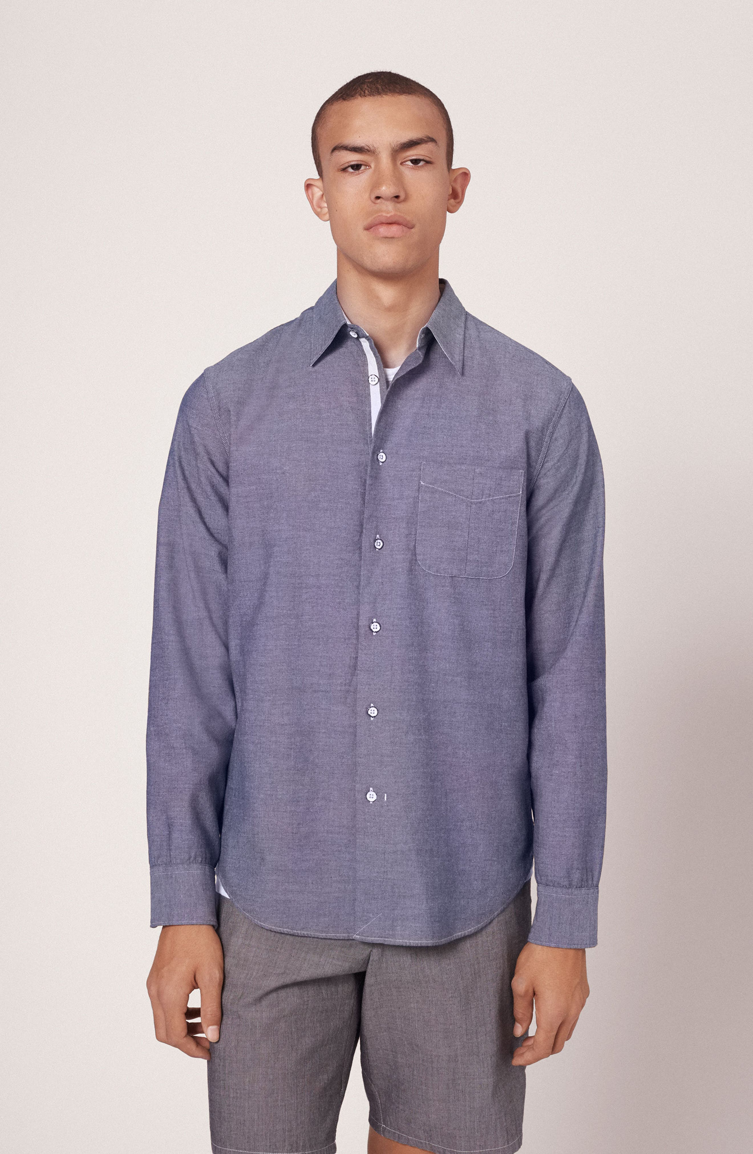 Alternate Image 6  - rag & bone Beach Trim Fit Sport Shirt