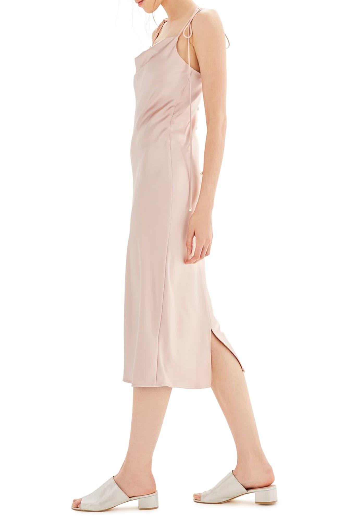 Alternate Image 4  - Topshop Bride Cowl Neck Midi Dress