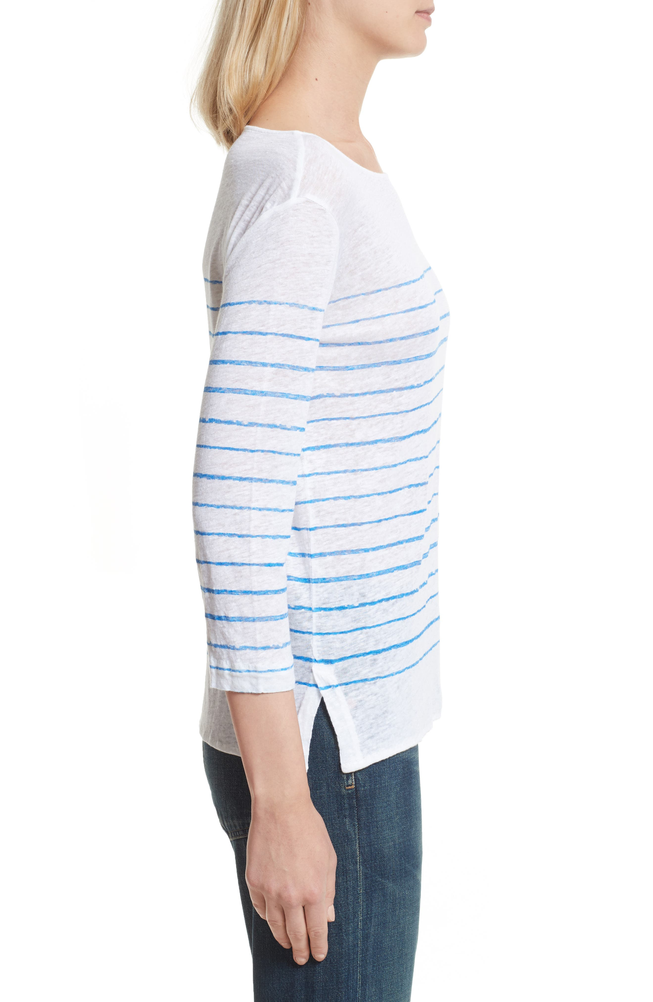 Alternate Image 3  - Majestic Filatures Vintage Stripe Linen Tee