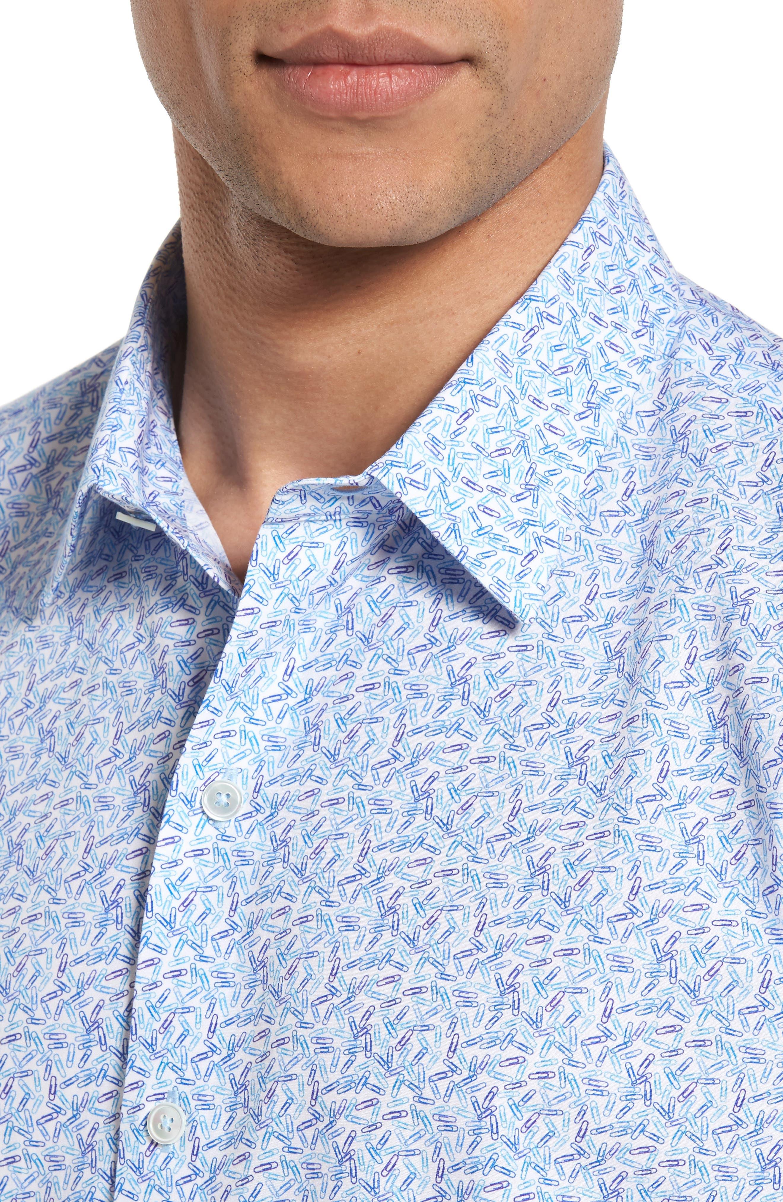 Alternate Image 4  - Zachary Prell Munoz Print Sport Shirt