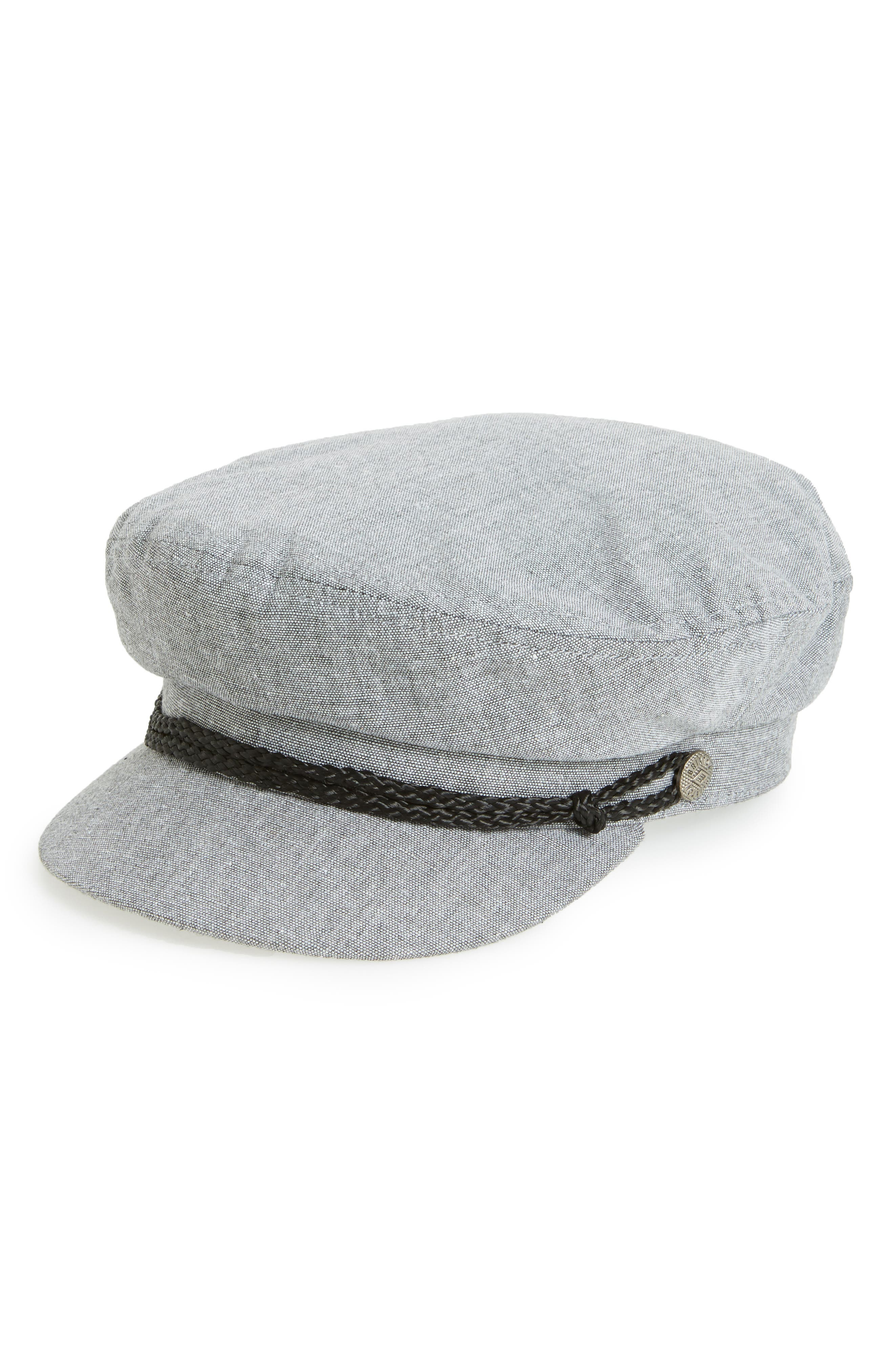 Fiddler Fisherman Cap,                         Main,                         color, Grey Chambray