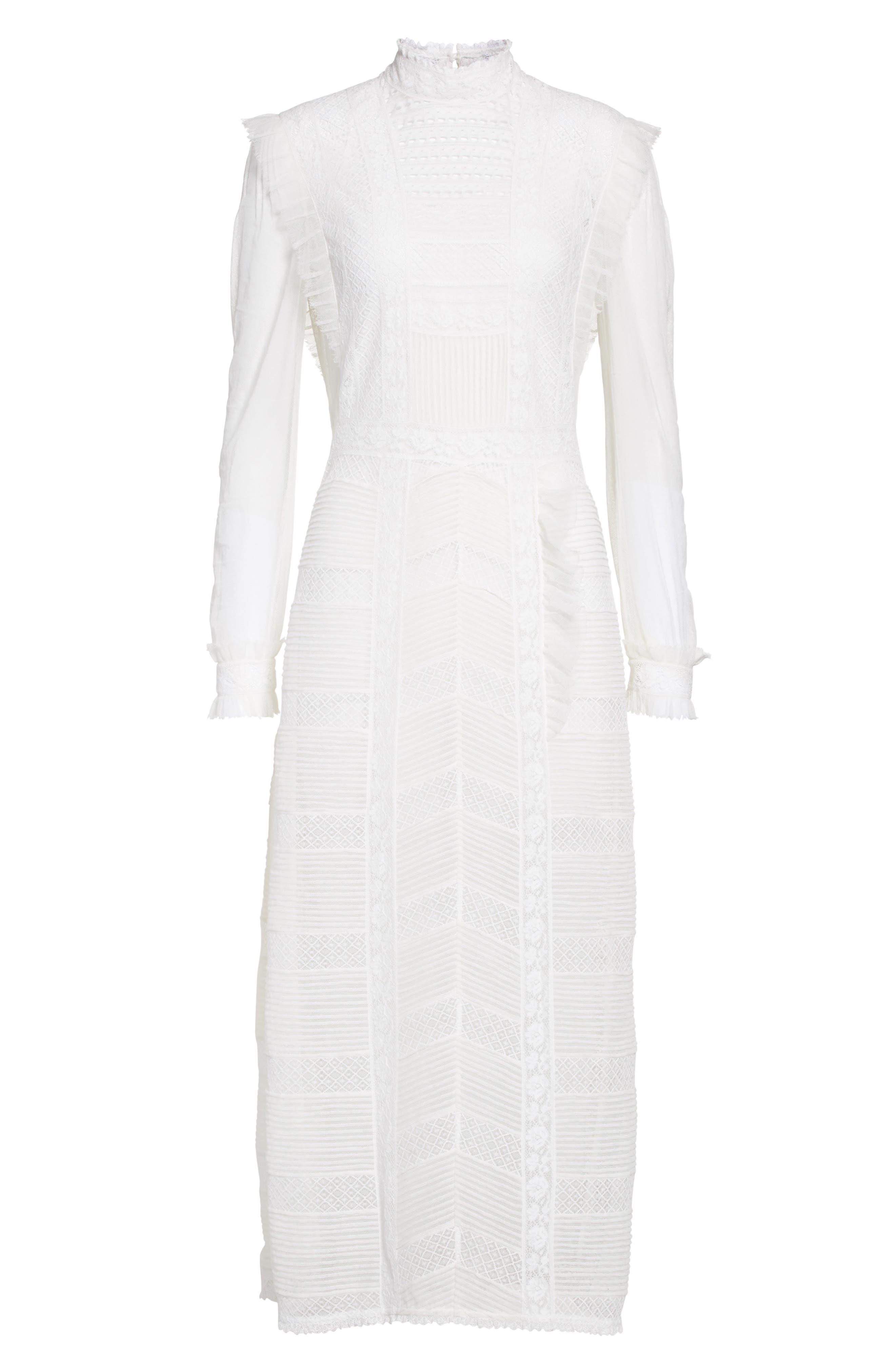 Alternate Image 4  - Burberry Chanella Lace Midi Dress