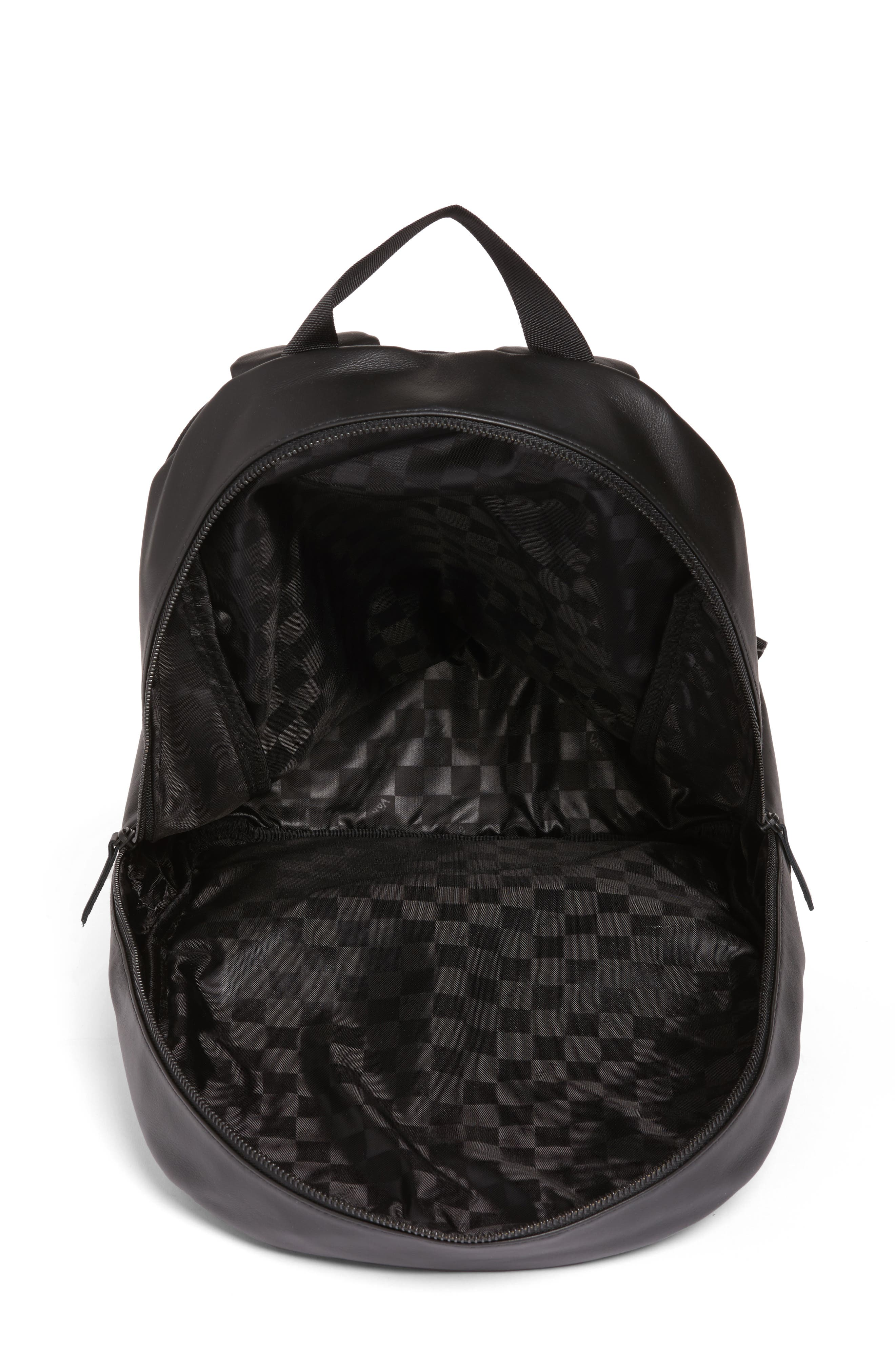 Alternate Image 4  - Vans x KARL LAGERFELD Quilted Leather Backpack