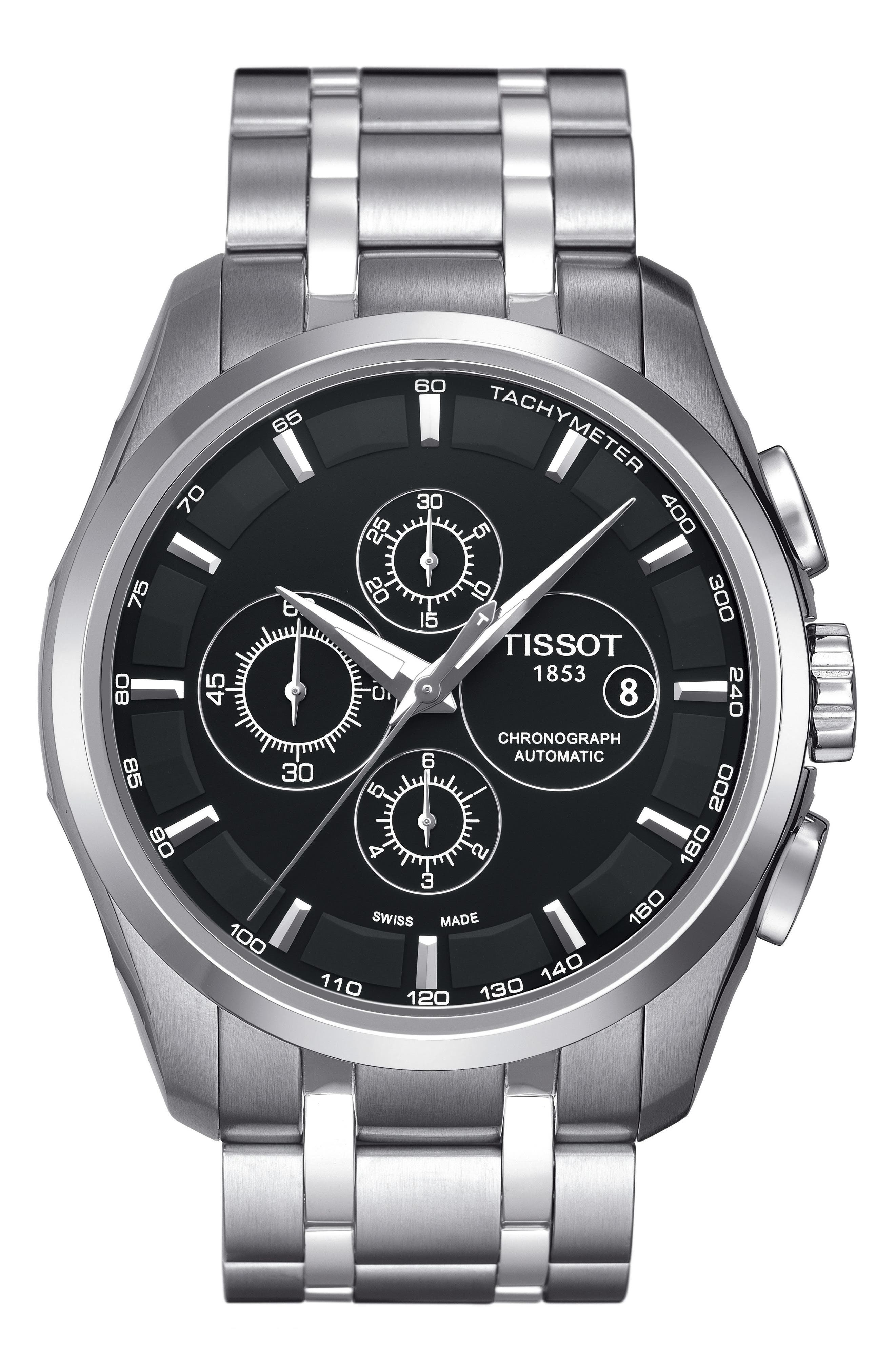 Alternate Image 1 Selected - Tissot Couturier Automatic Chronograph Bracelet Watch, 43mm
