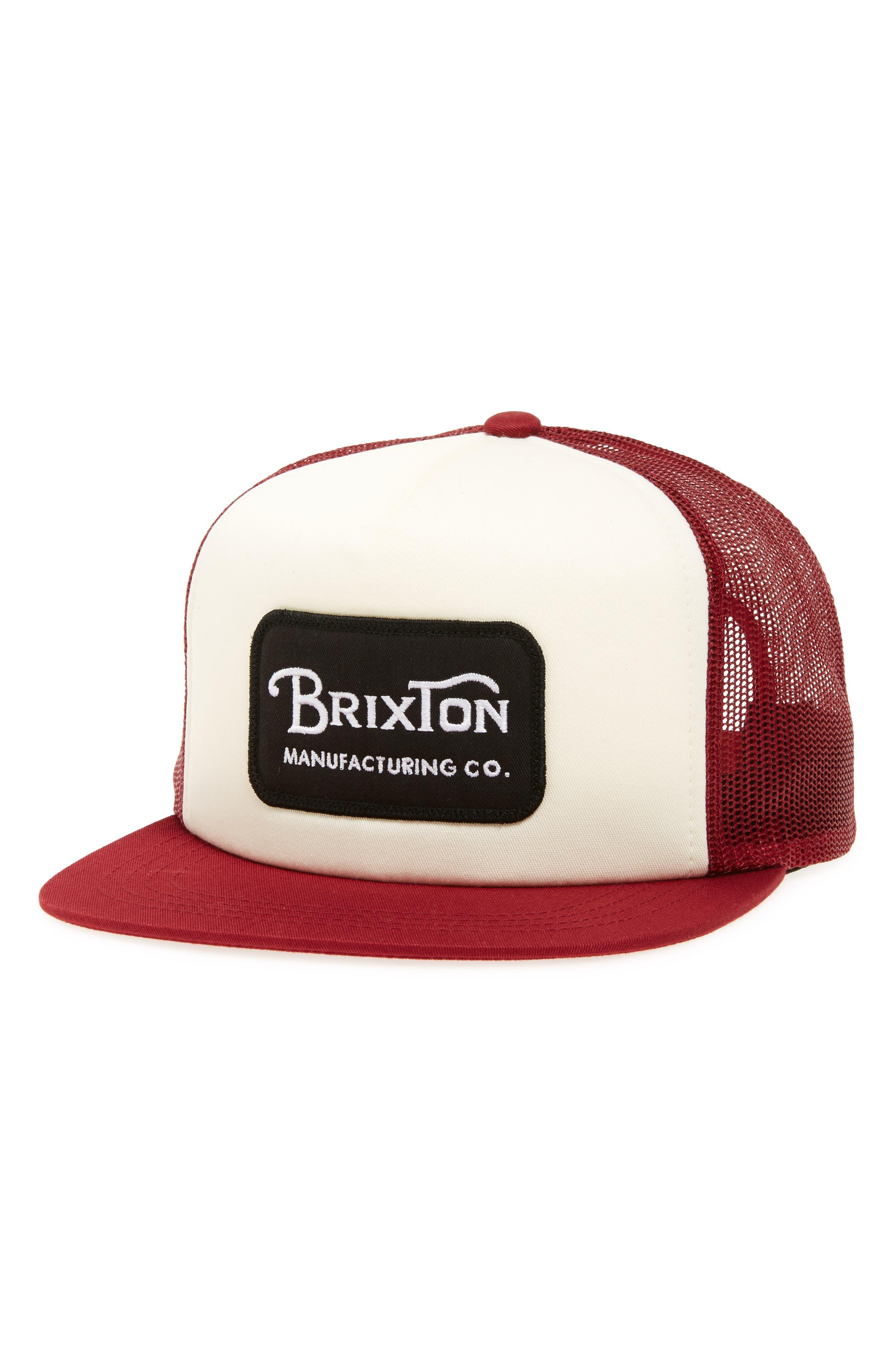 Grade Snapback Cap,                         Main,                         color, White/ Burgundy