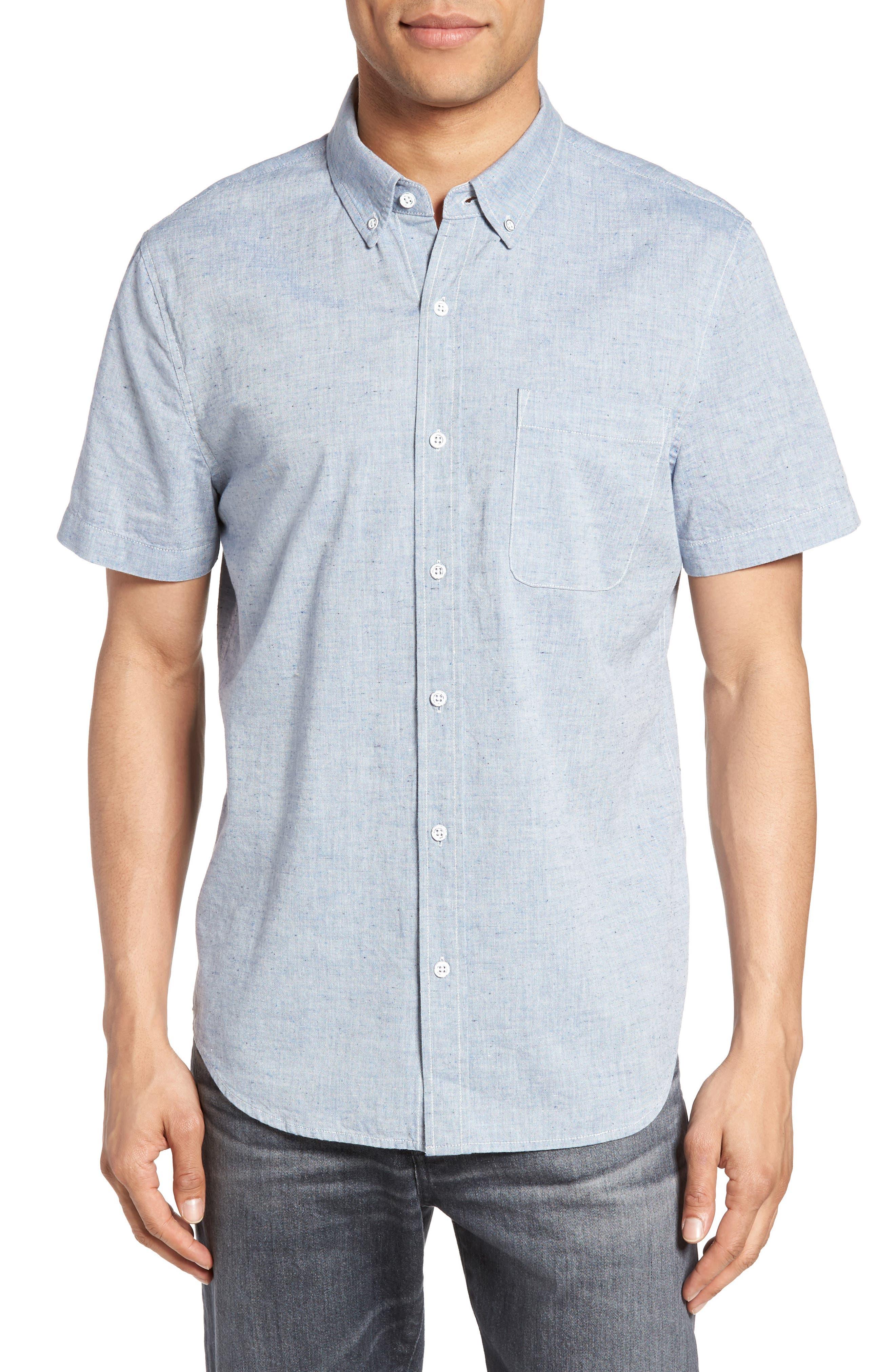Alternate Image 1 Selected - AG Nash Slub Cotton Shirt