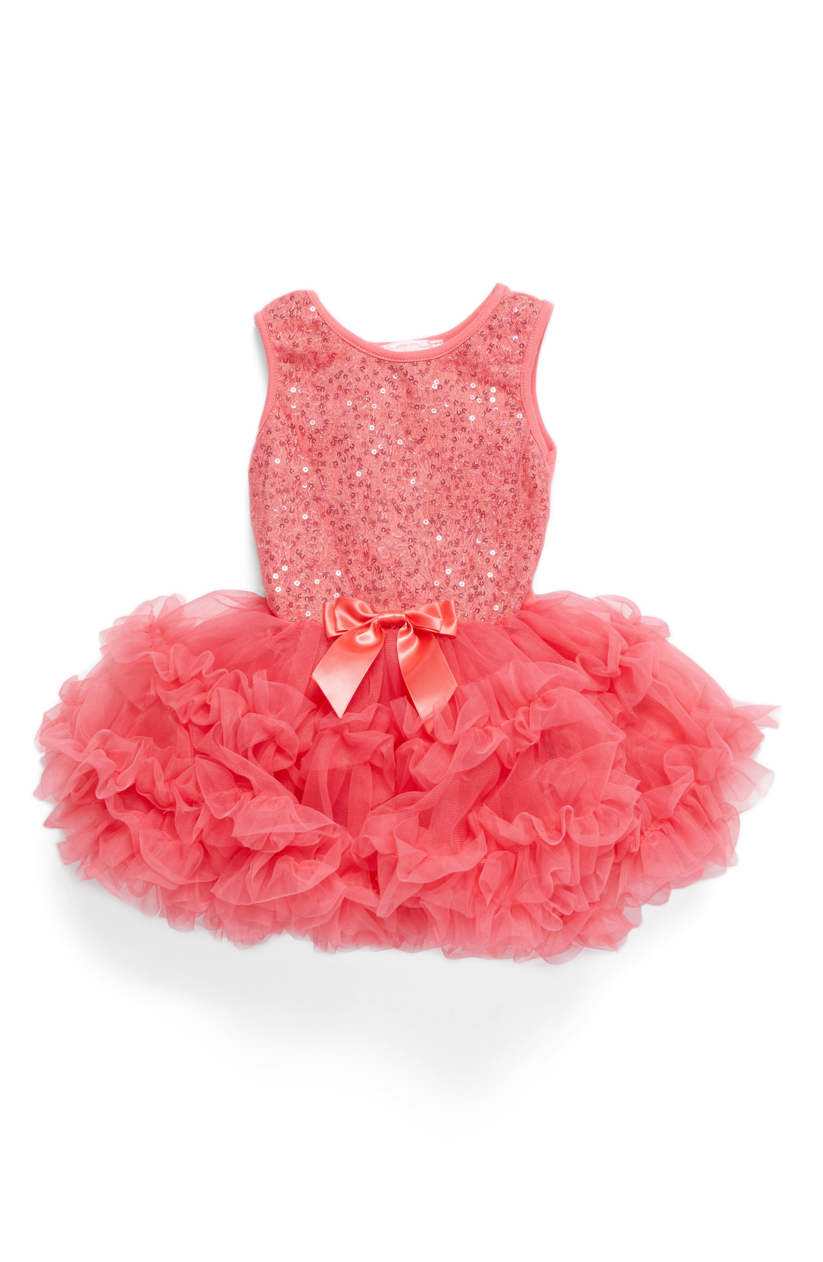 Alternate Image 1 Selected - Popatu Sequin Pettidress (Baby Girls)