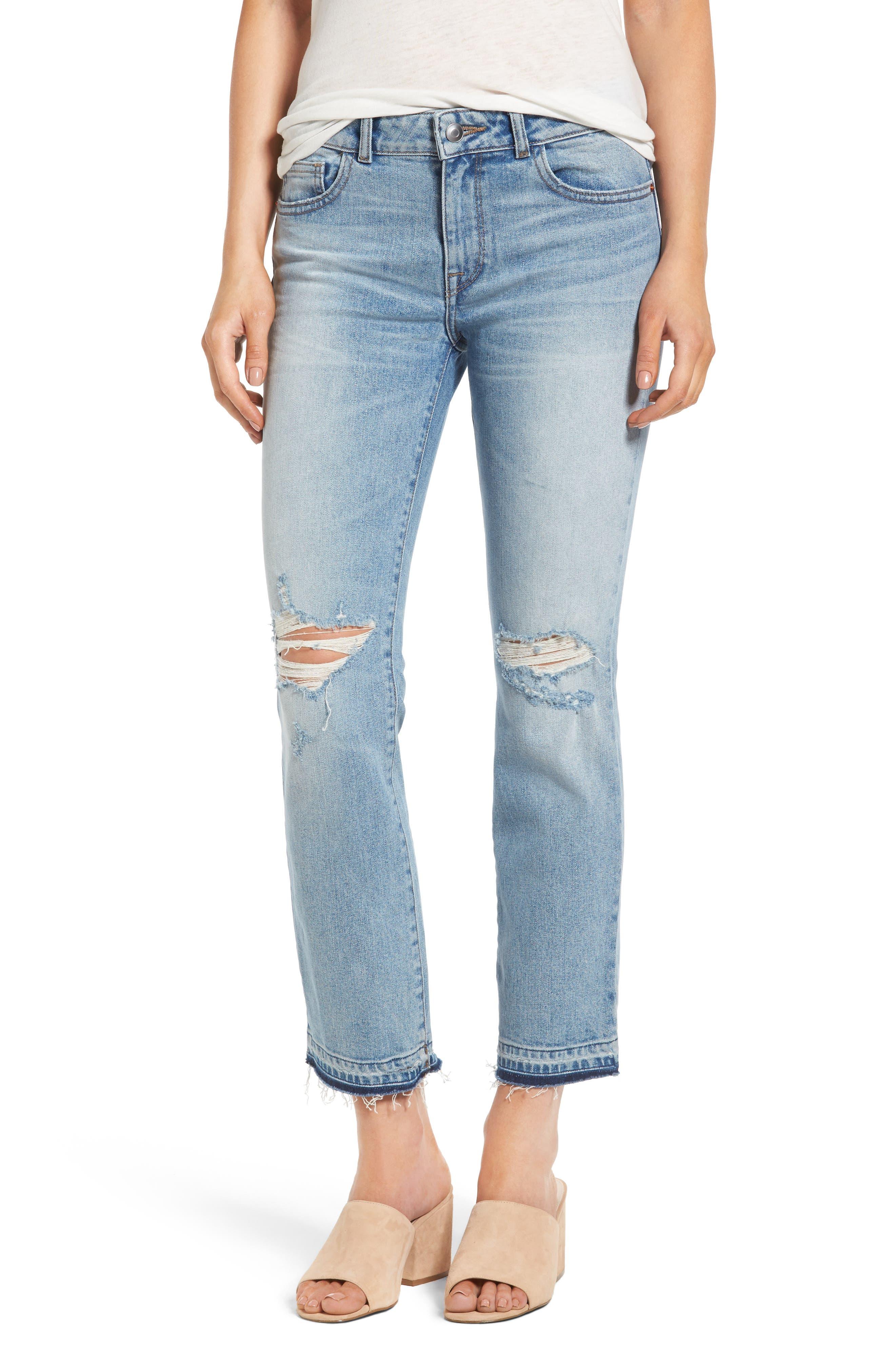 DL1961 Mara Ankle Straight Leg Jeans (Glacier)