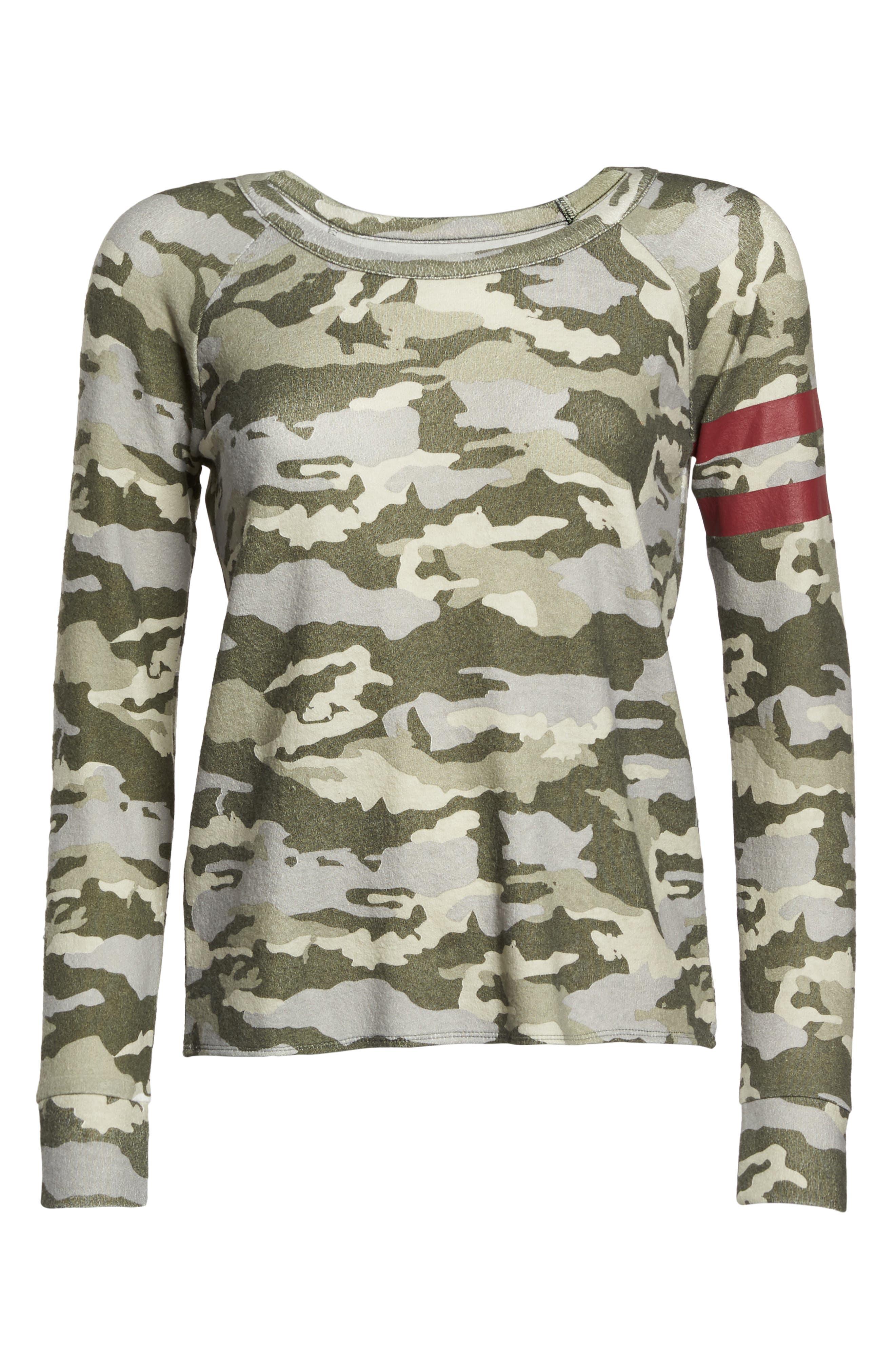 Camo Lounge Sweatshirt,                             Alternate thumbnail 4, color,                             Camo