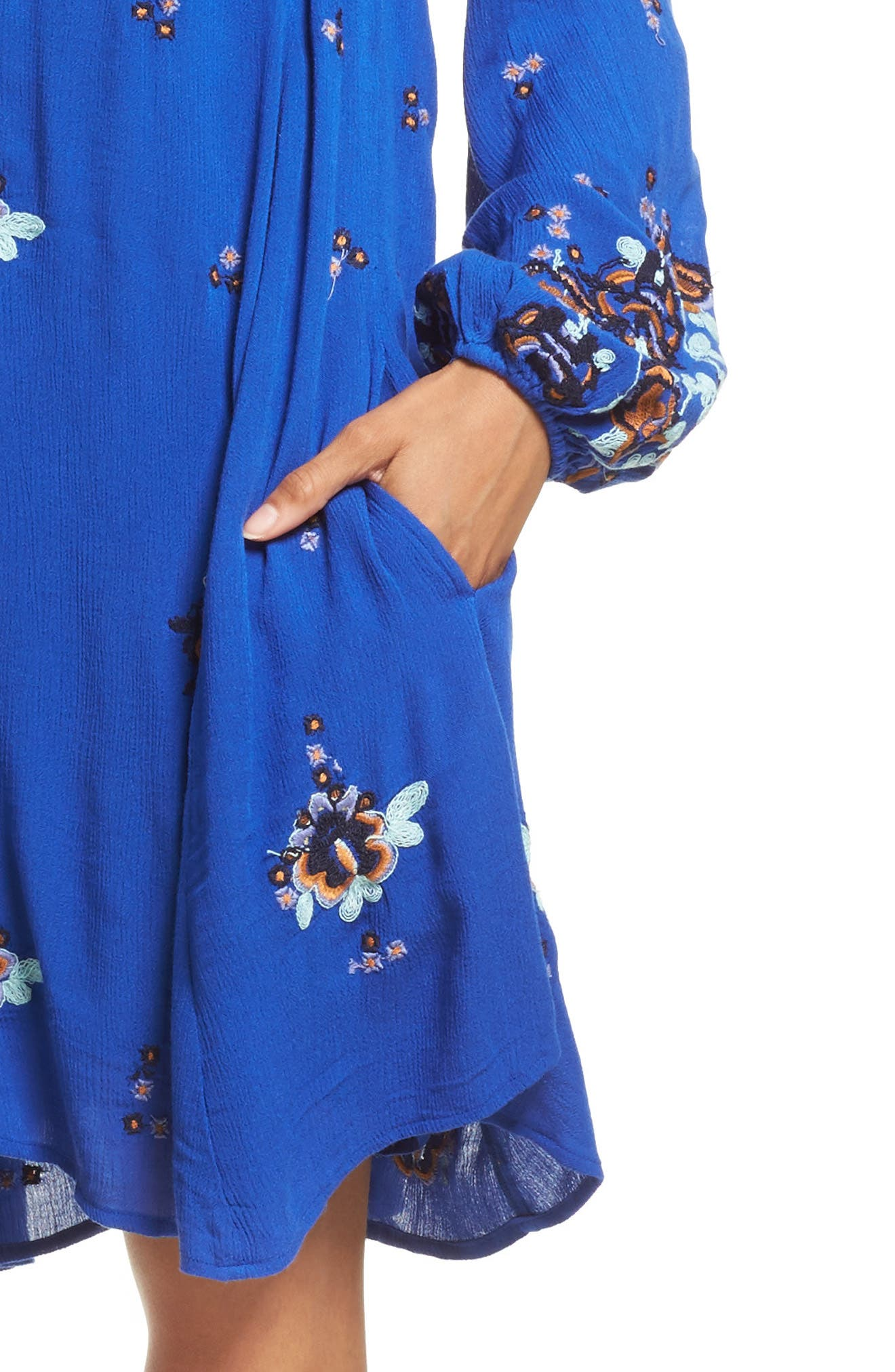 Alternate Image 4  - Free People Embroidered Minidress