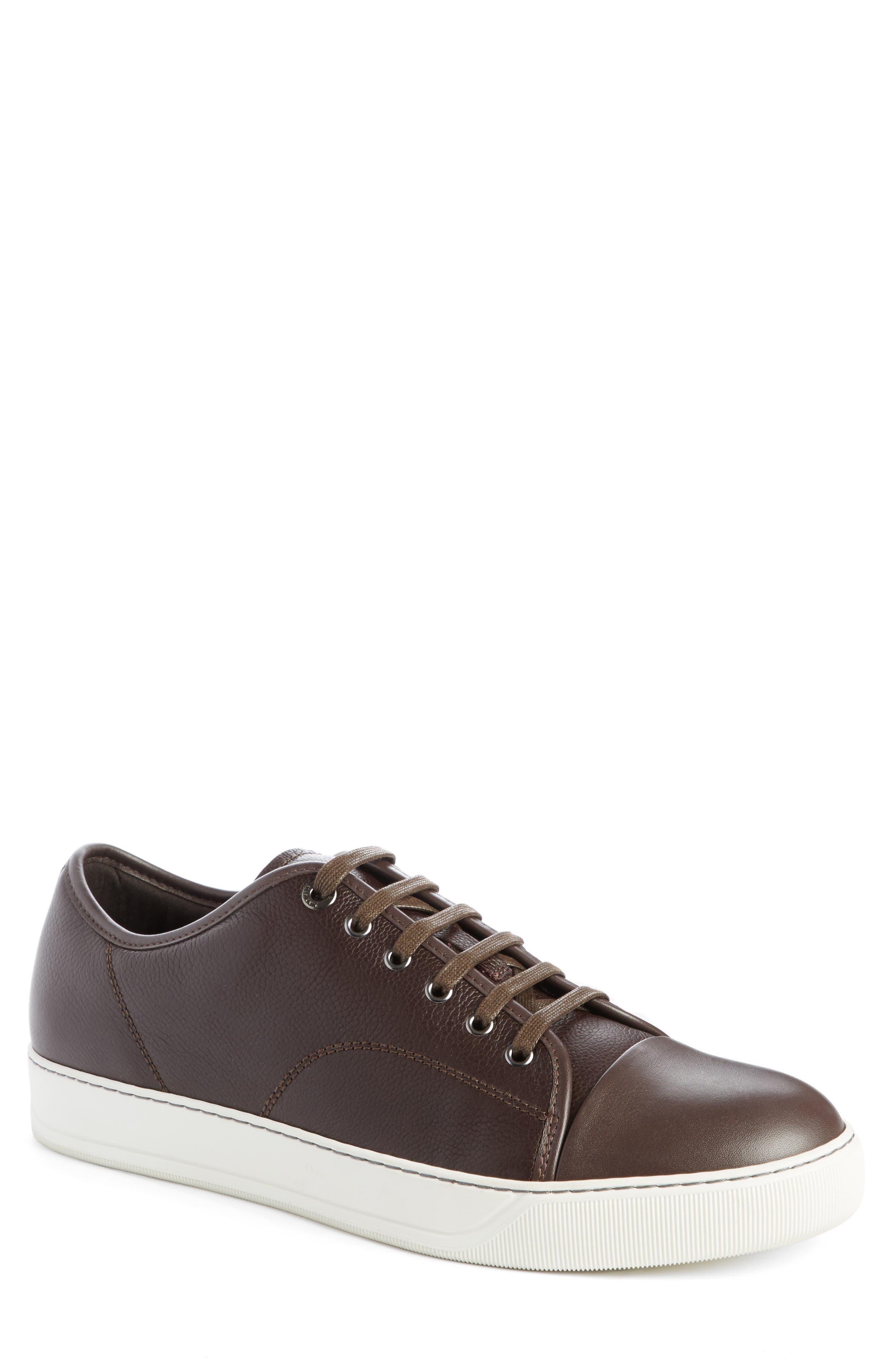 Main Image - Lanvin Shiny Cap Toe Sneaker (Men)