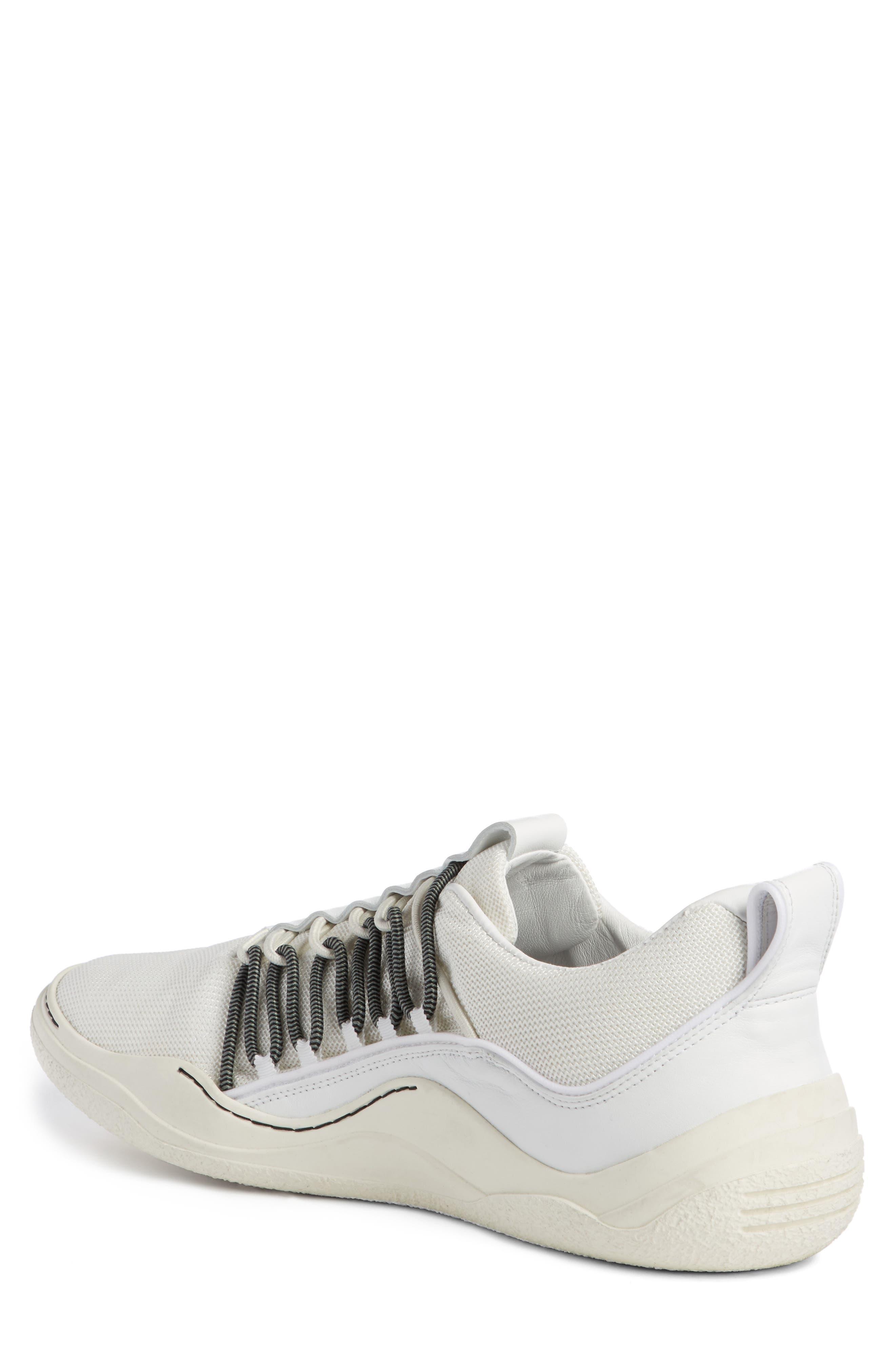 Elastic Sneaker,                             Alternate thumbnail 2, color,                             White