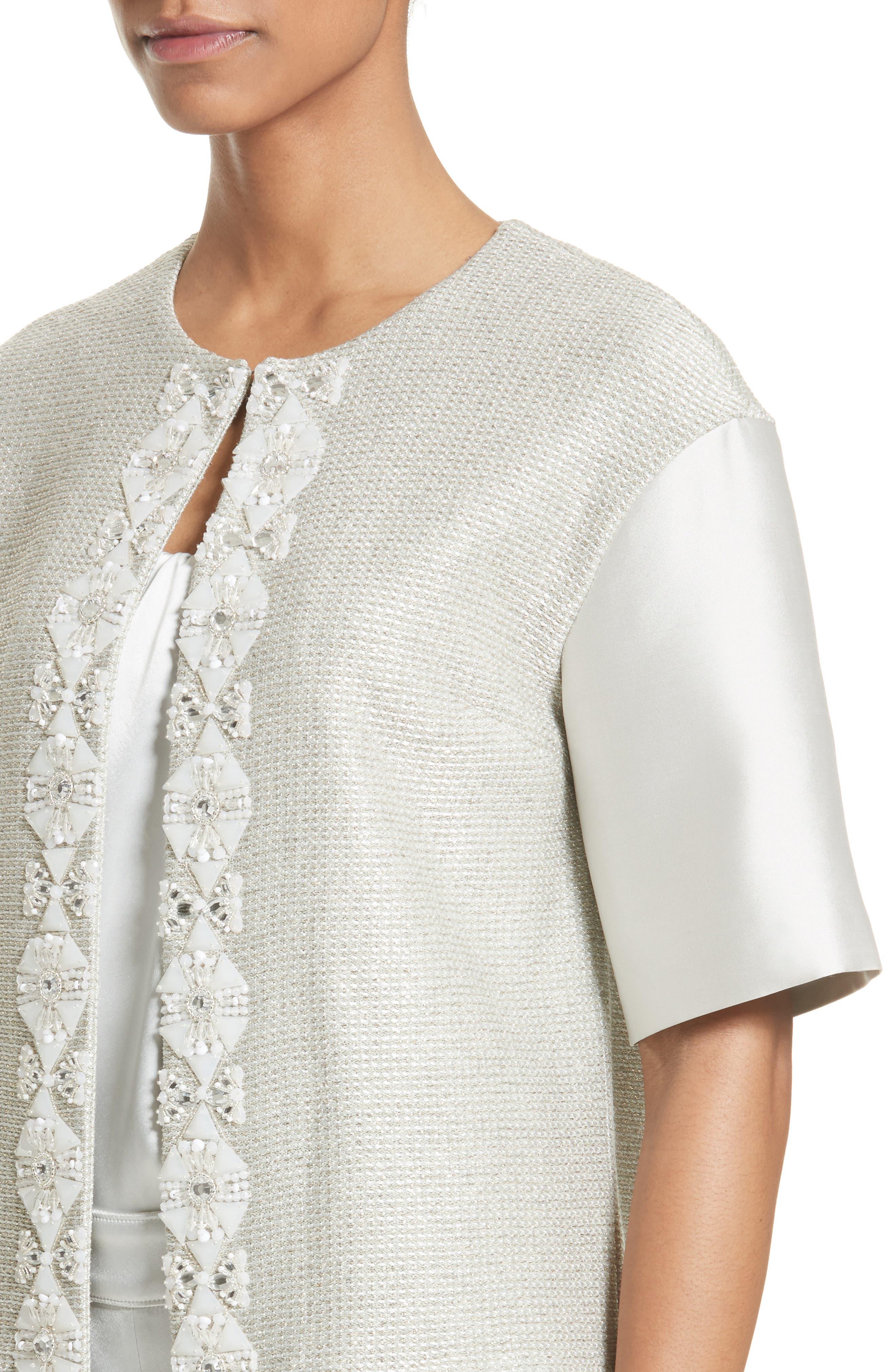 Alternate Image 4  - St. John Collection Beaded Jasmine Sparkle Knit Jacket