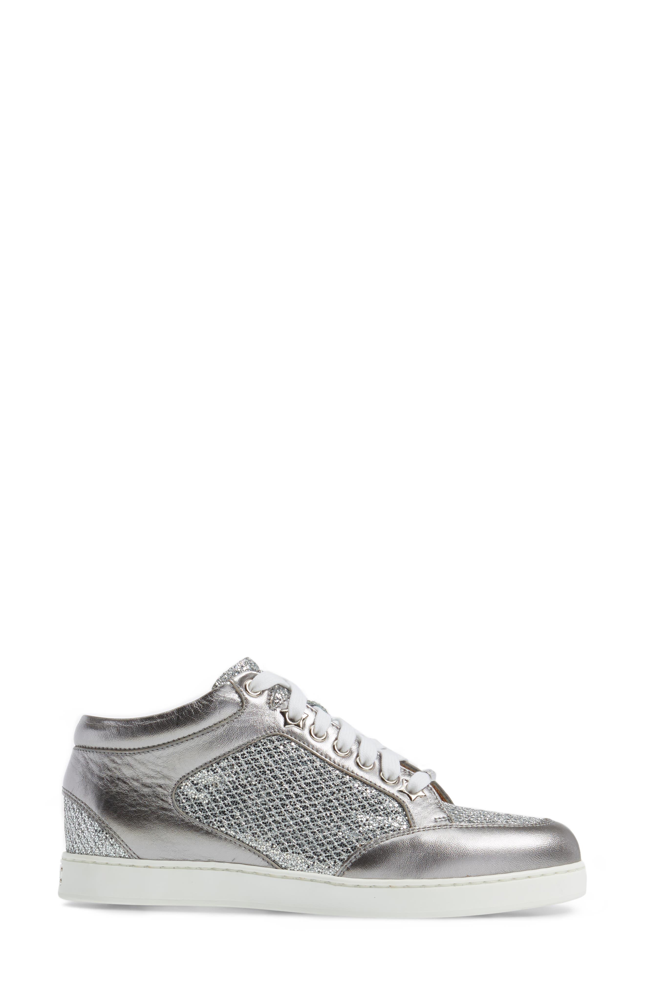 Alternate Image 3  - Jimmy Choo Miami Glitter Sneaker (Women)