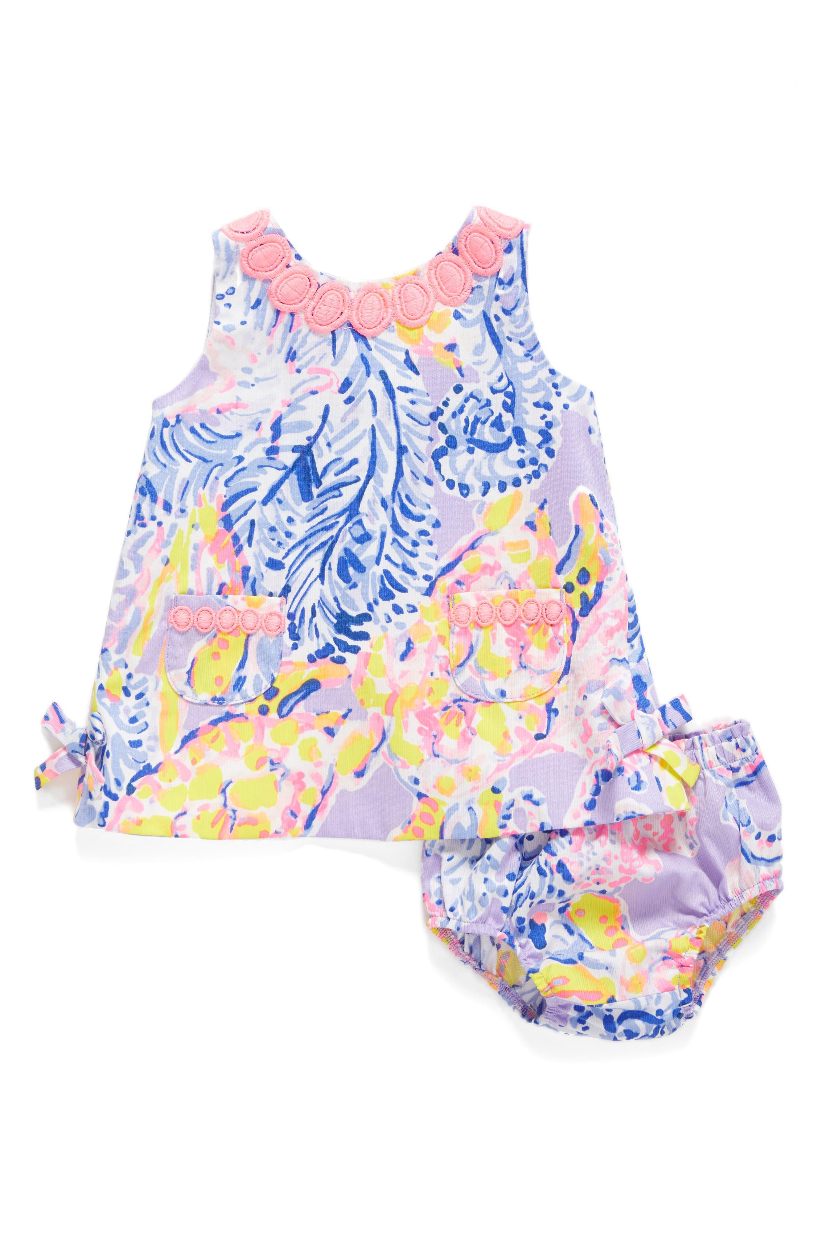 Lilly Shift Dress,                         Main,                         color, Lilac Verbena So Snappy