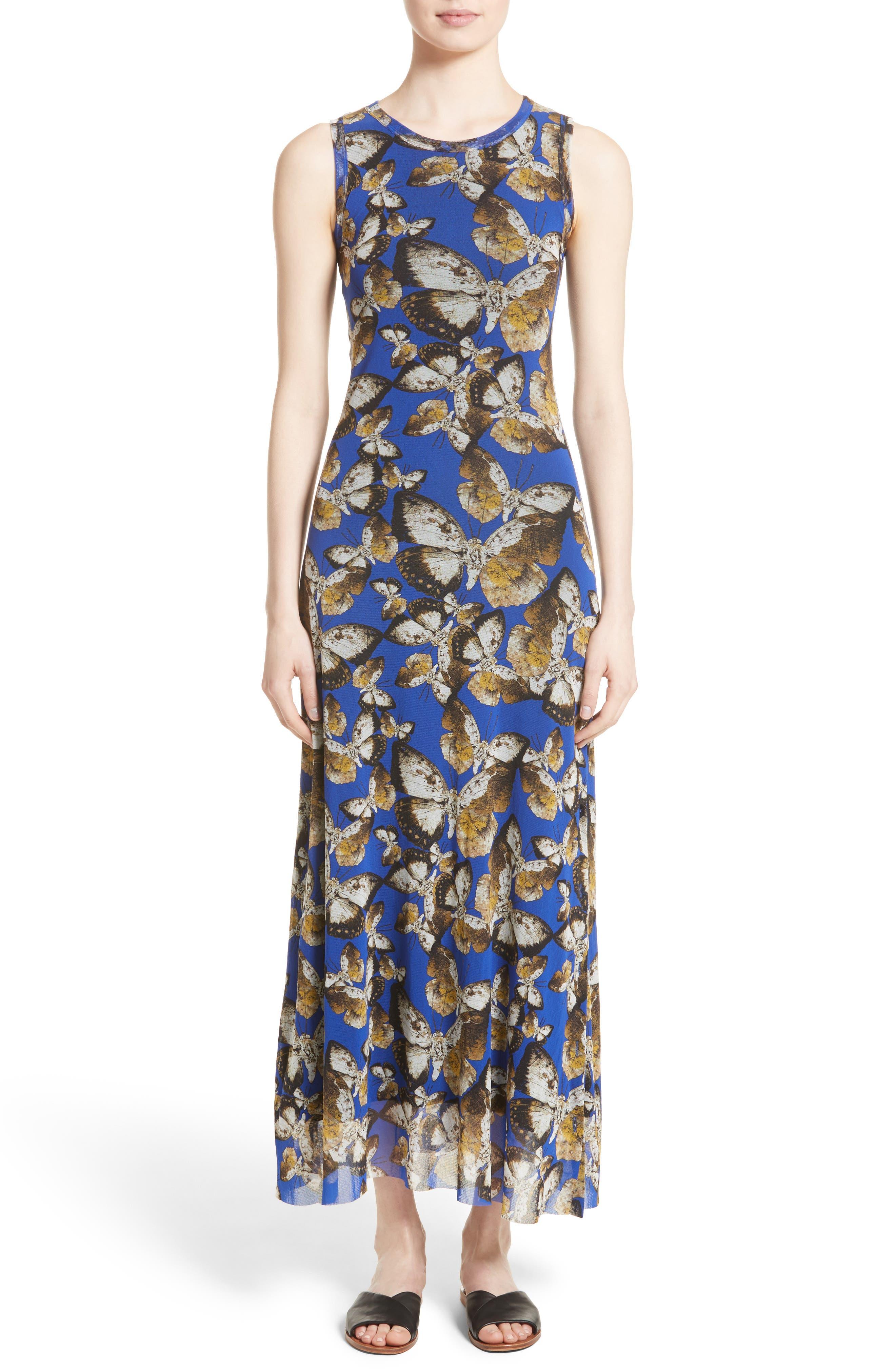 Tulle Maxi Dress,                         Main,                         color, Indigo