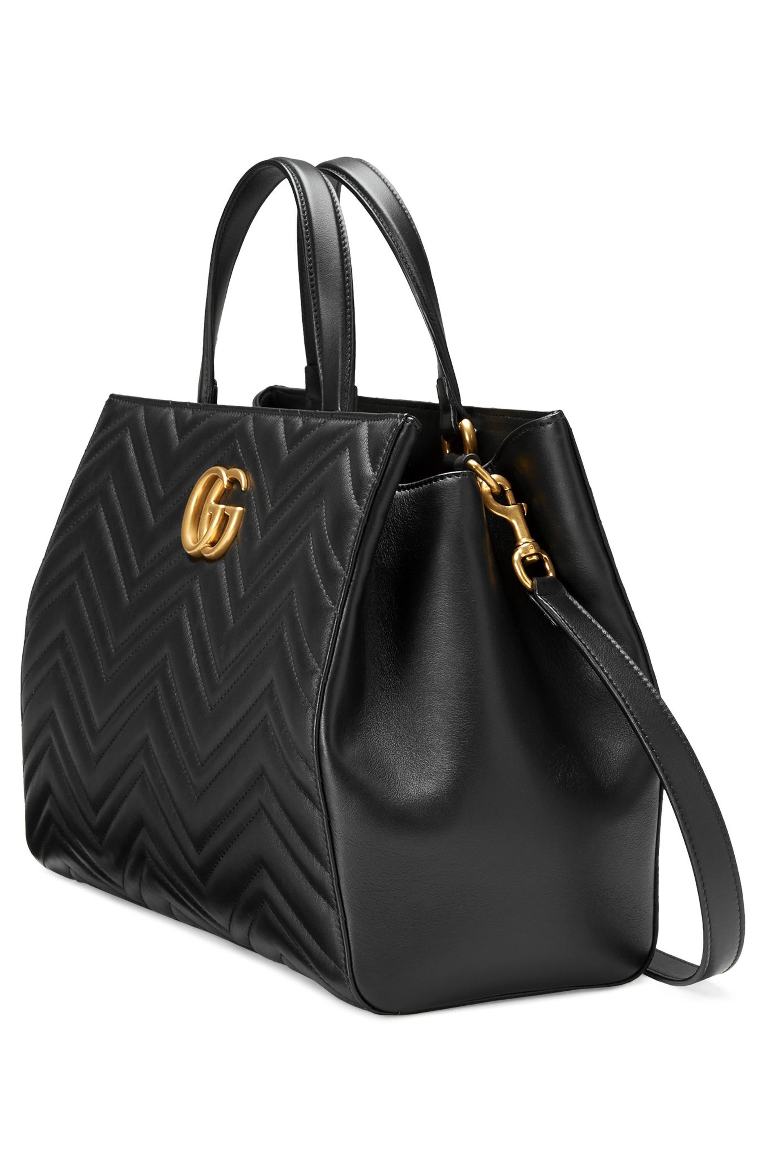 Alternate Image 4  - Gucci GG Marmont Medium Matelassé Leather Top Handle Shoulder Bag