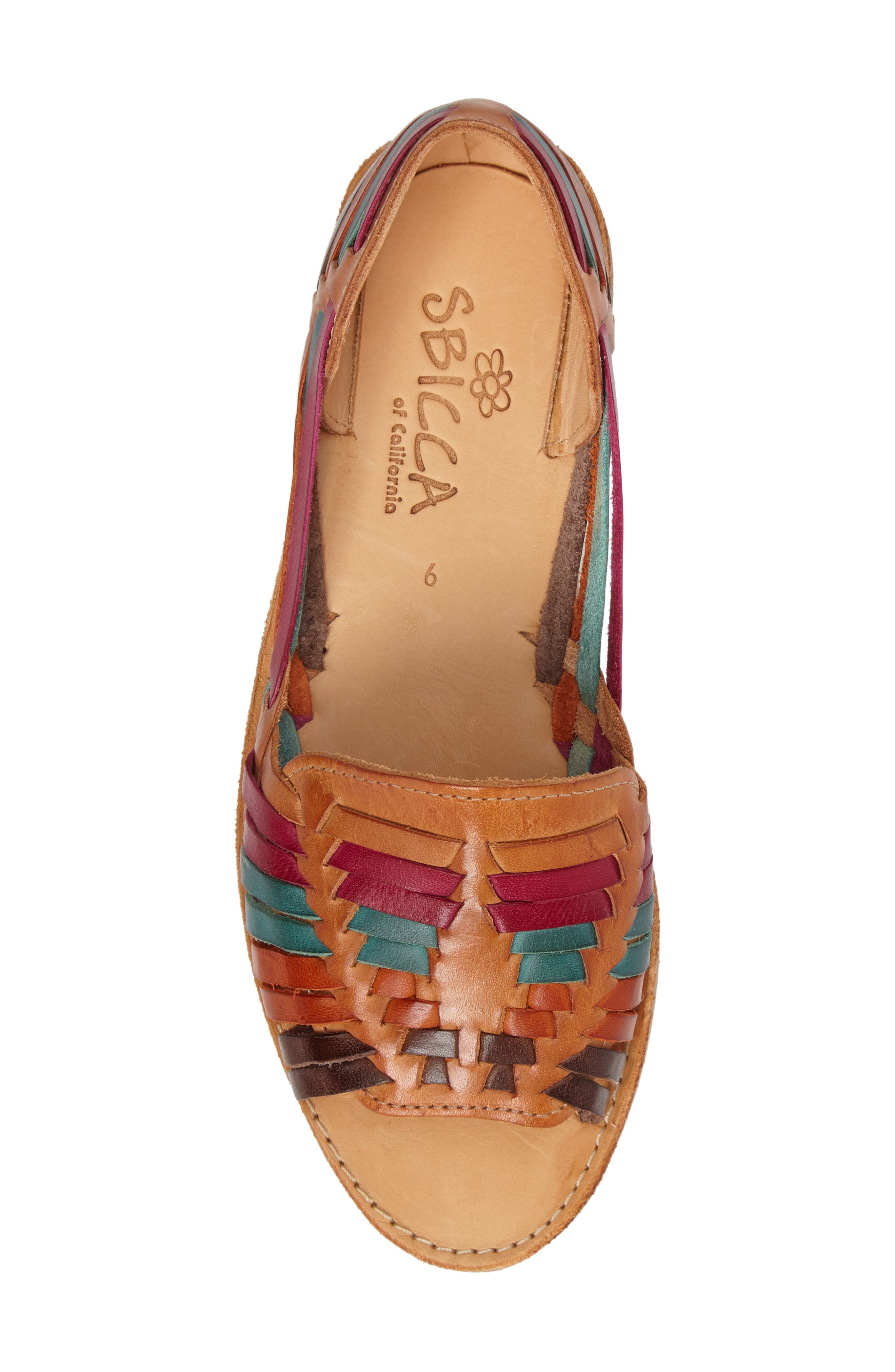 Alternate Image 5  - Sbicca Jared Peep Toe Flat (Women)