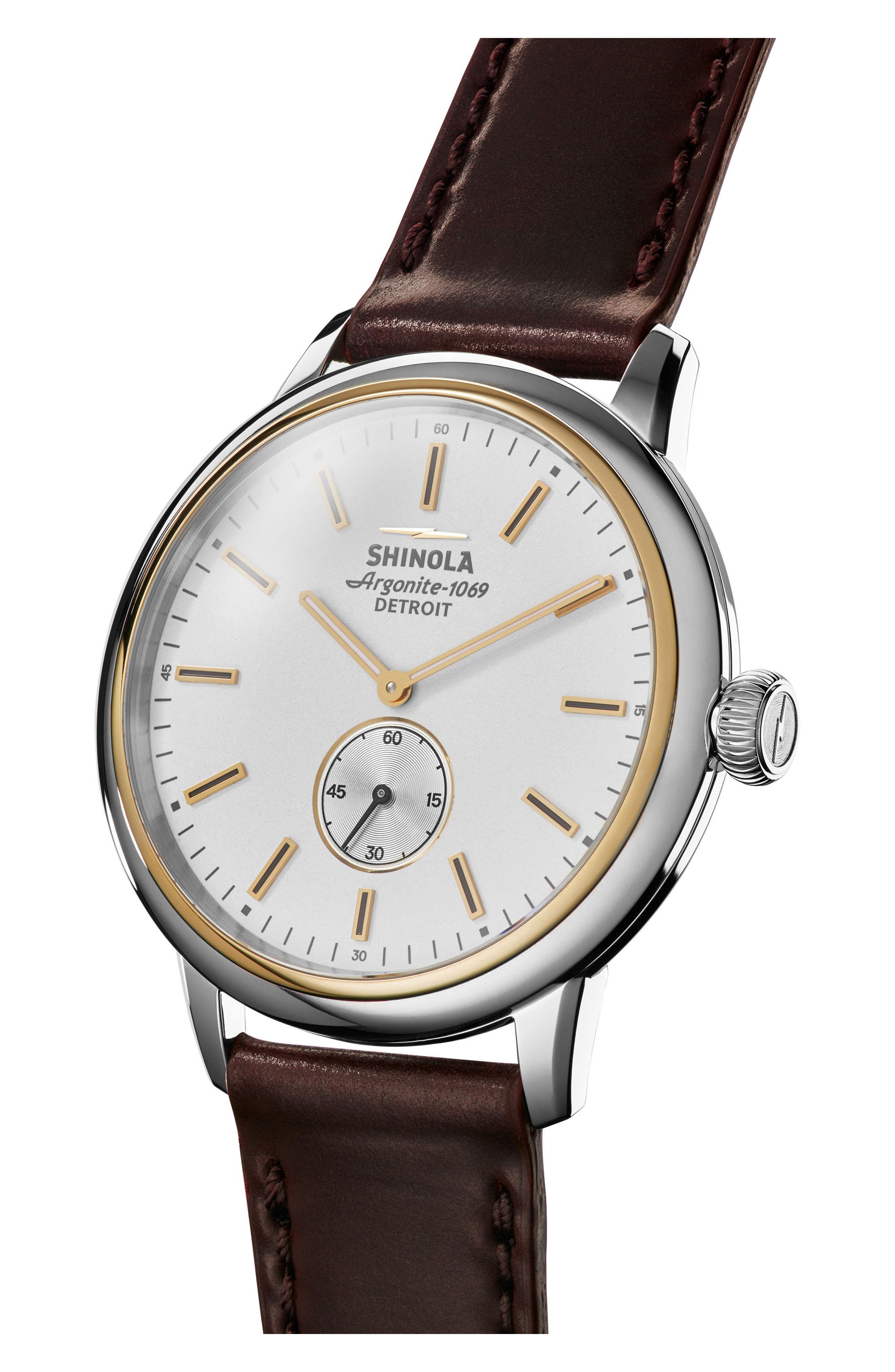 Alternate Image 3  - Shinola Bedrock Leather Strap Watch, 42mm
