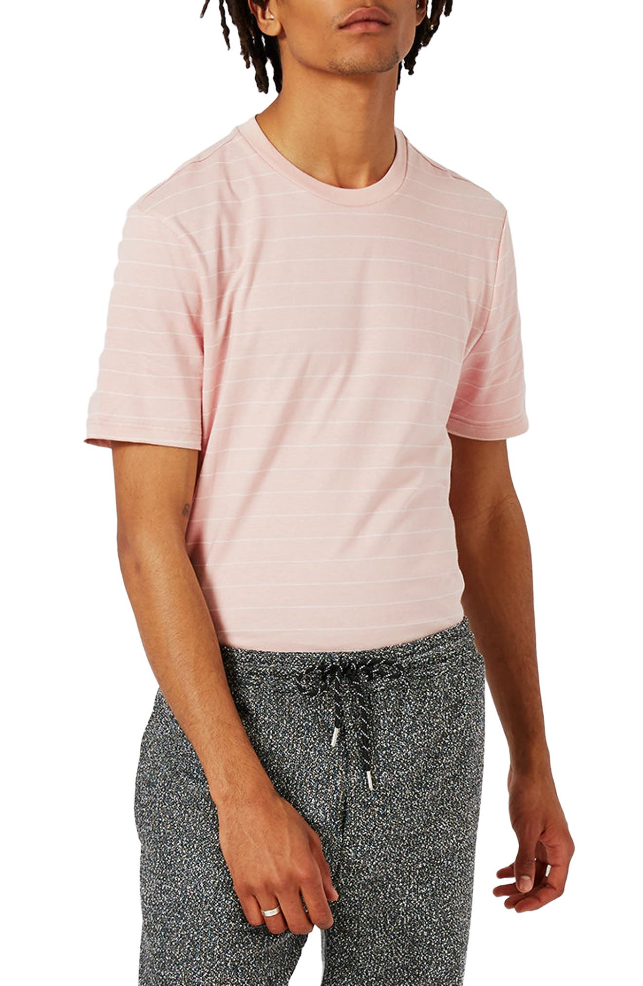 Alternate Image 1 Selected - Topman Slim Fit Stripe T-Shirt