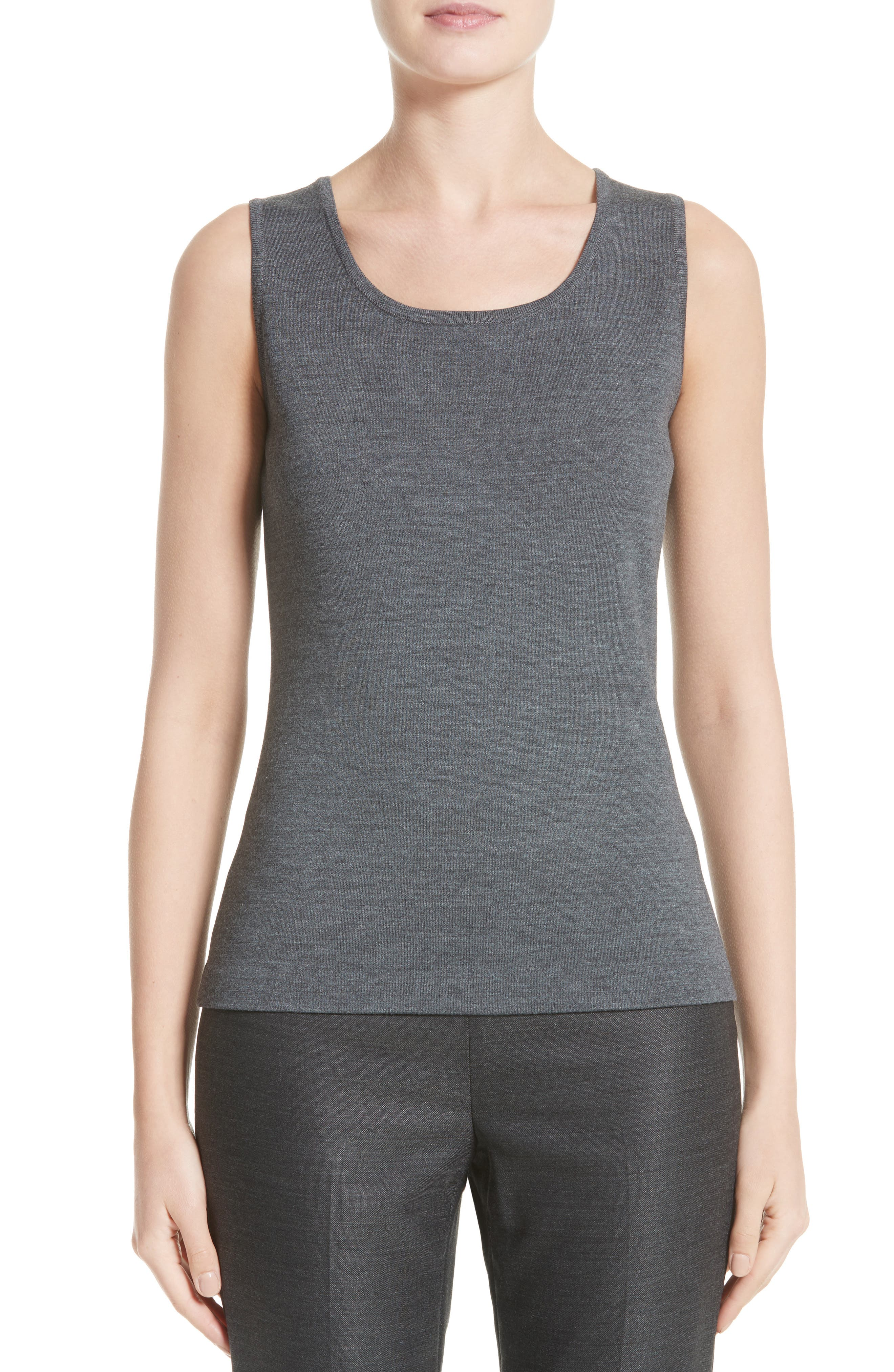 Main Image - St. John Collection Milano Knit Contour Shell