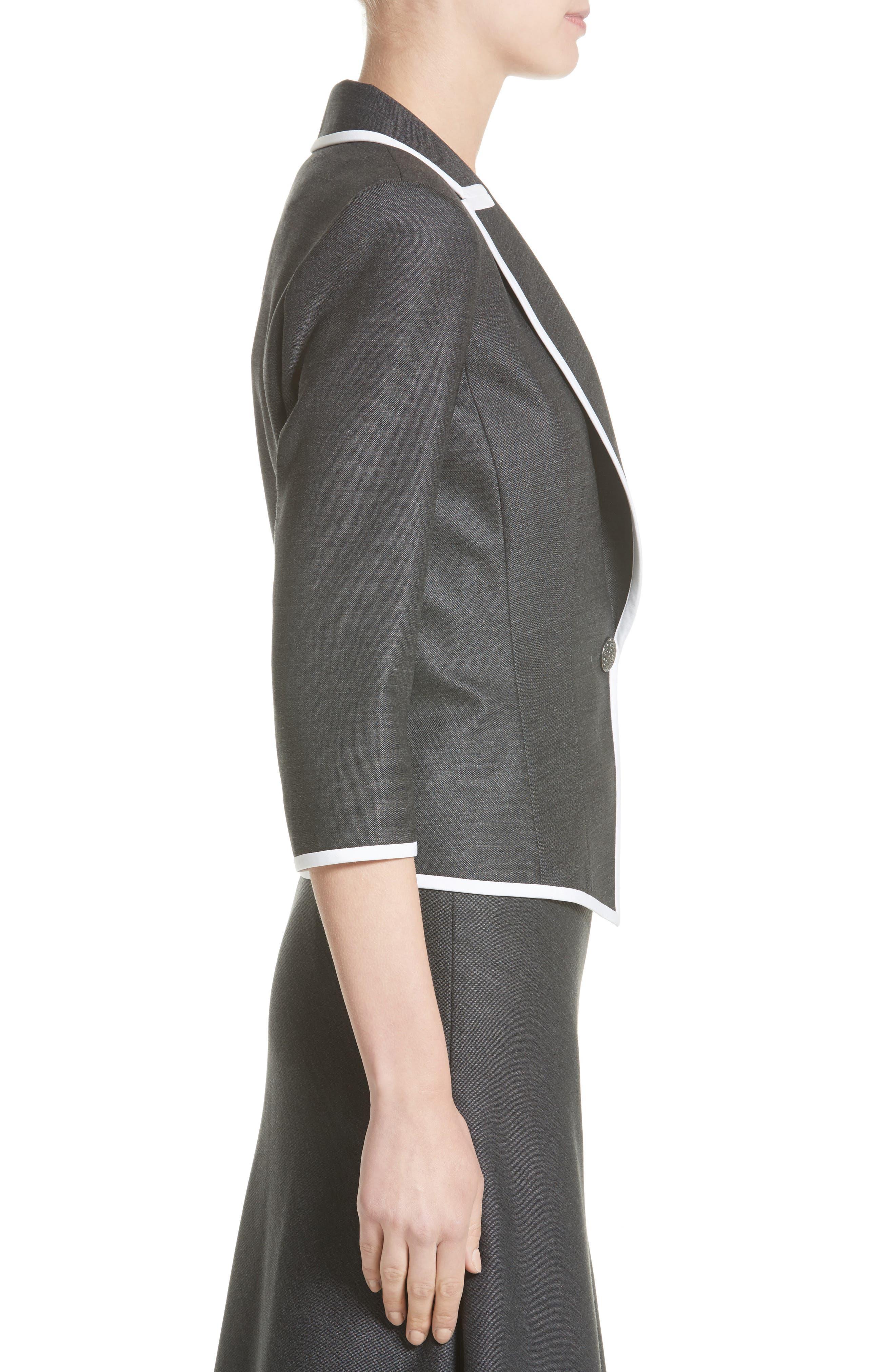 Alternate Image 3  - St. John Collection Stretch Birdseye Jacket