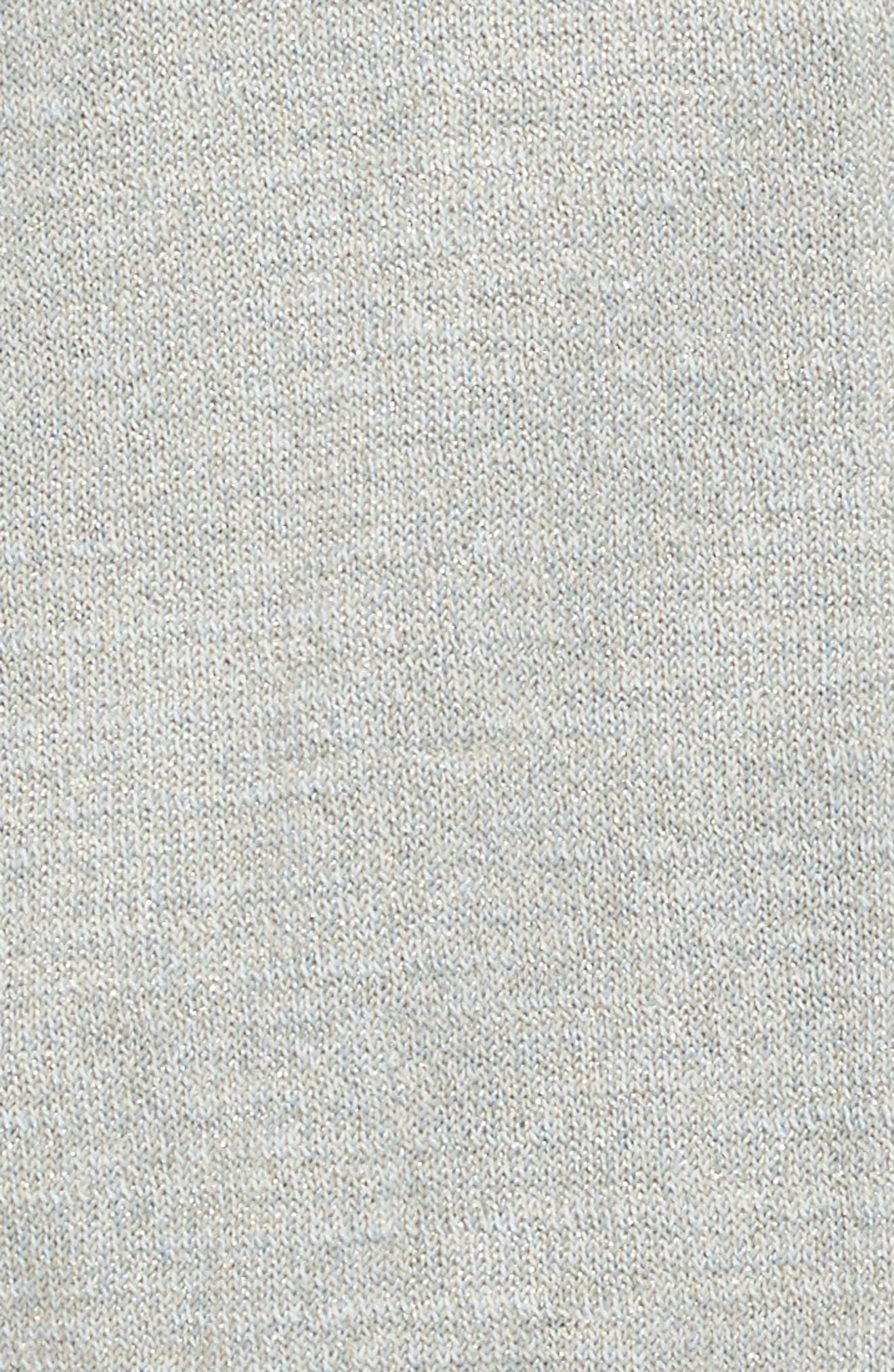 Bomber Sweater,                             Alternate thumbnail 3, color,                             Grey Sparkle