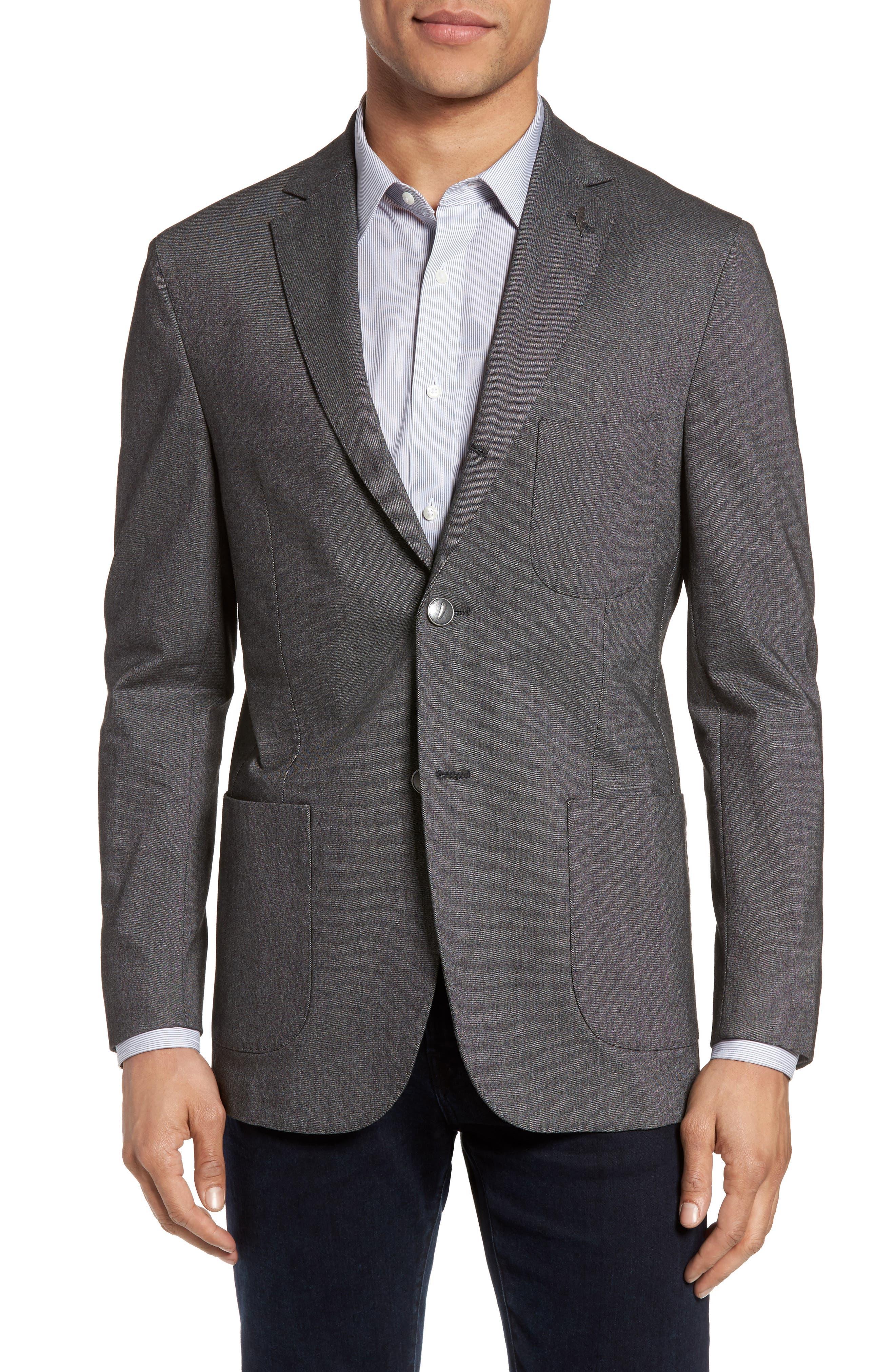 Michael Bastian Classic Fit Birdseye Wool Sport Coat