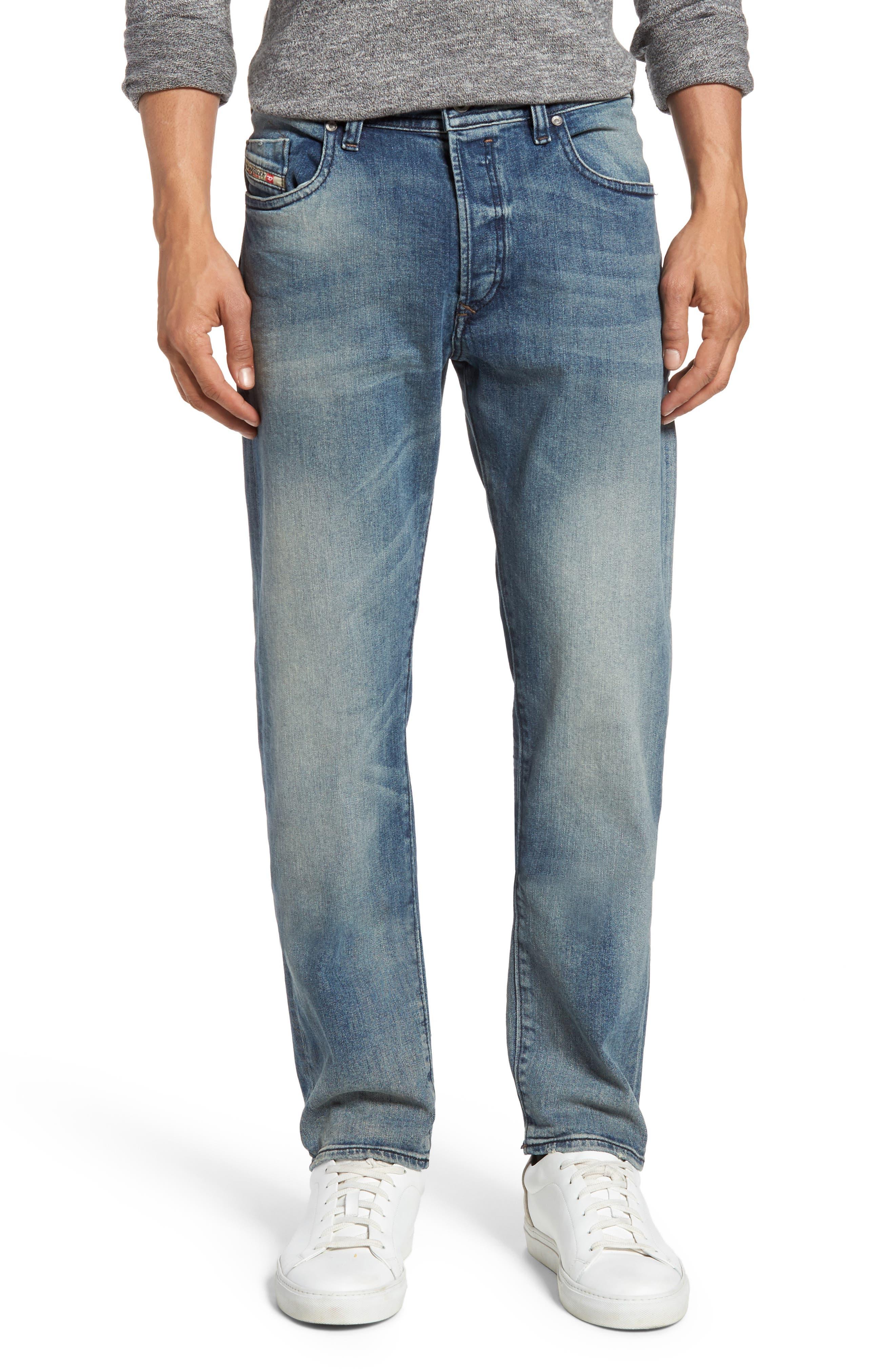 DIESEL® Buster Slim Straight Leg Jeans (C853P)