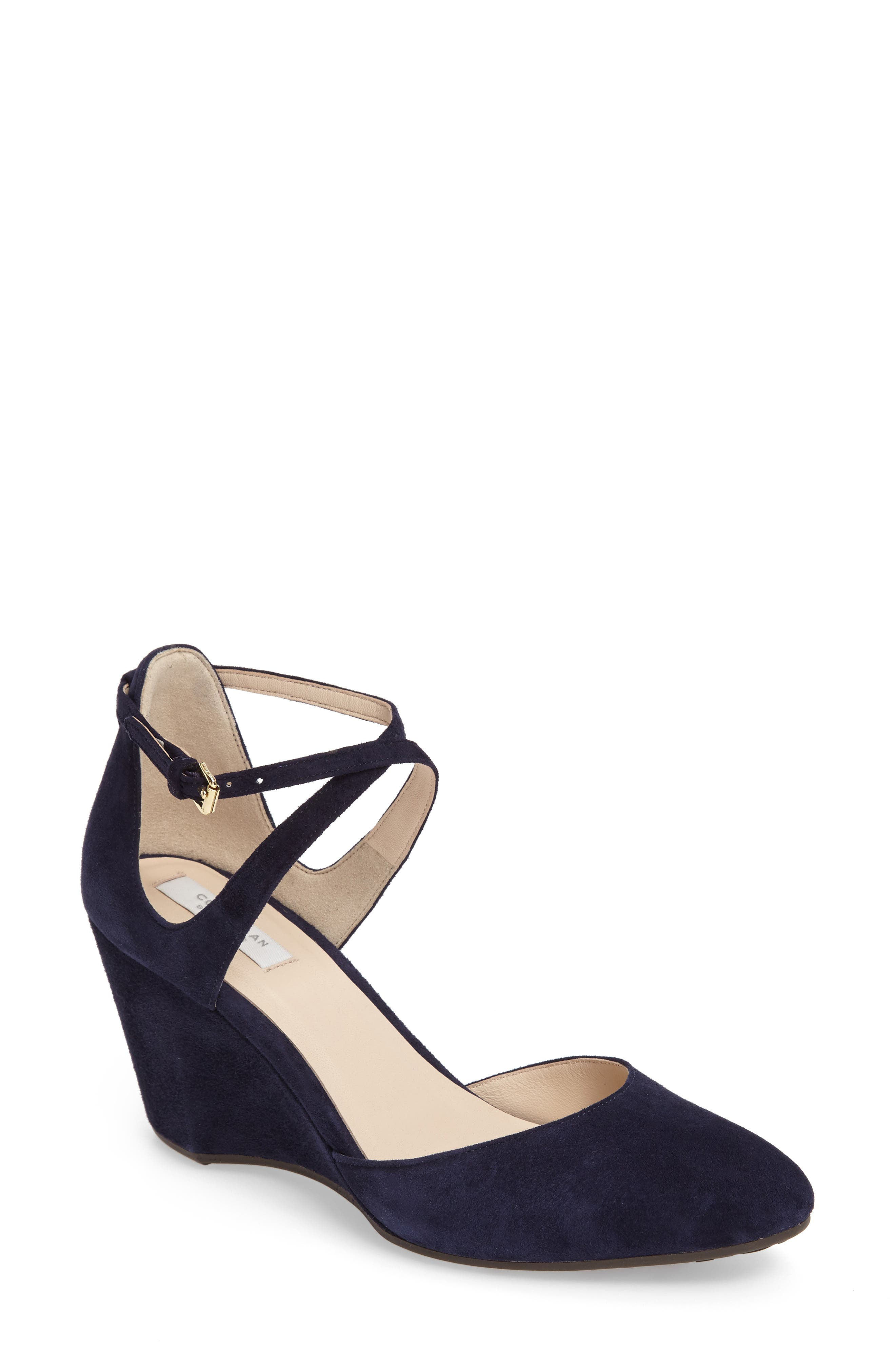 Main Image - Cole Haan Lacey Ankle Strap Wedge Pump (Women)