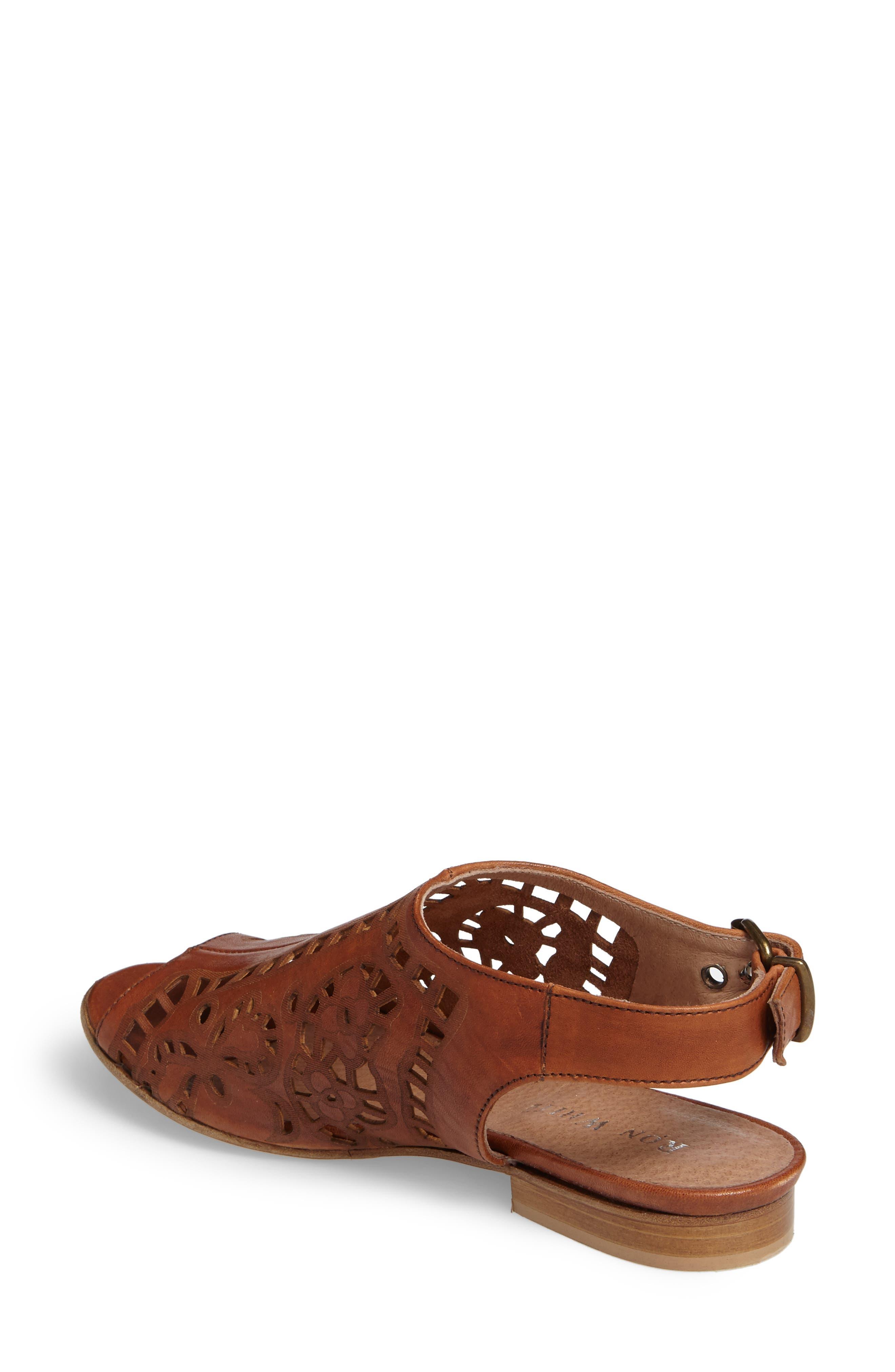 Ally Slingback Sandal,                             Alternate thumbnail 2, color,                             Cognac Leather
