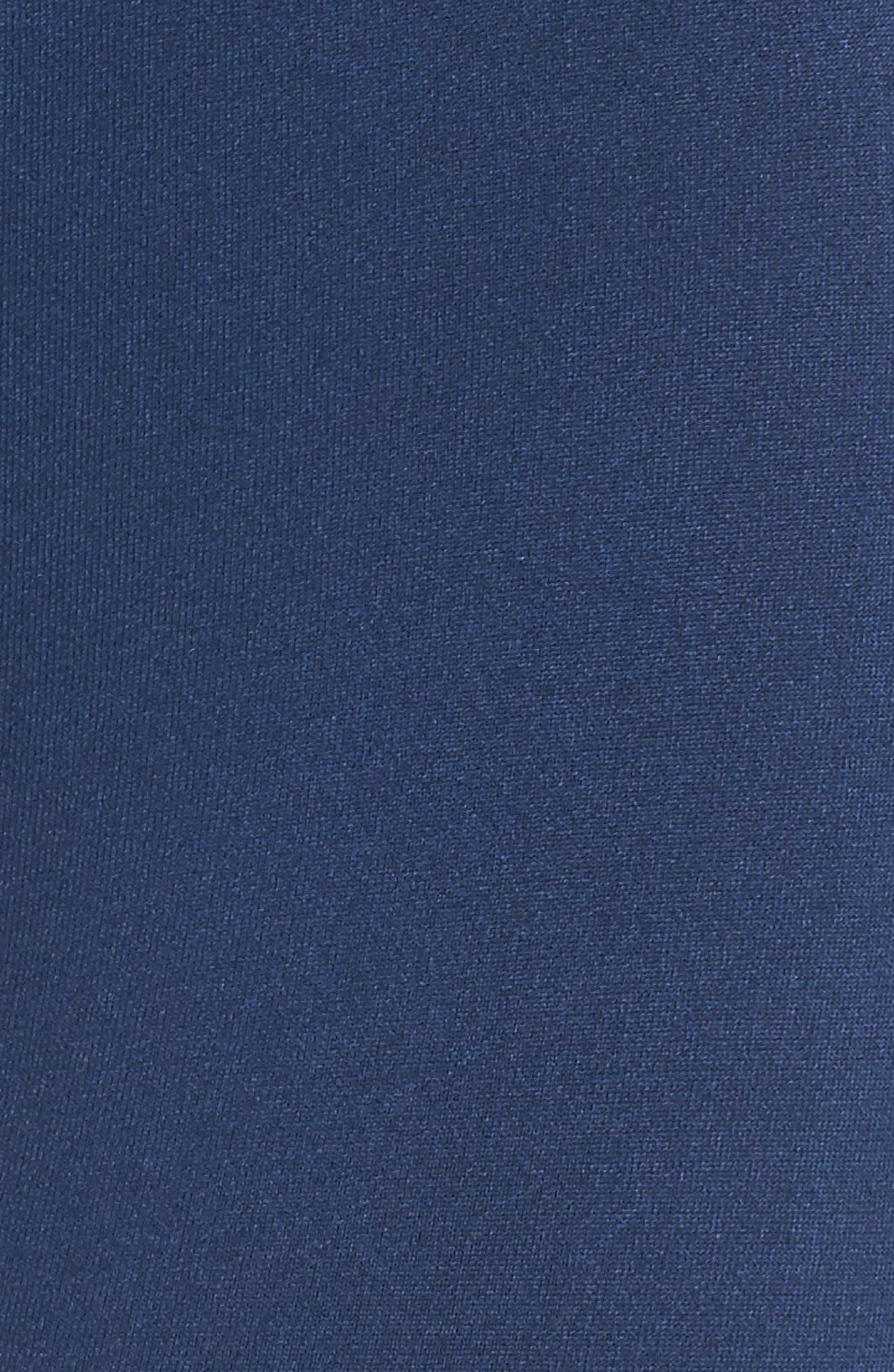 Set the Pace High Waist Capri Leggings,                             Alternate thumbnail 6, color,                             Estate Blue