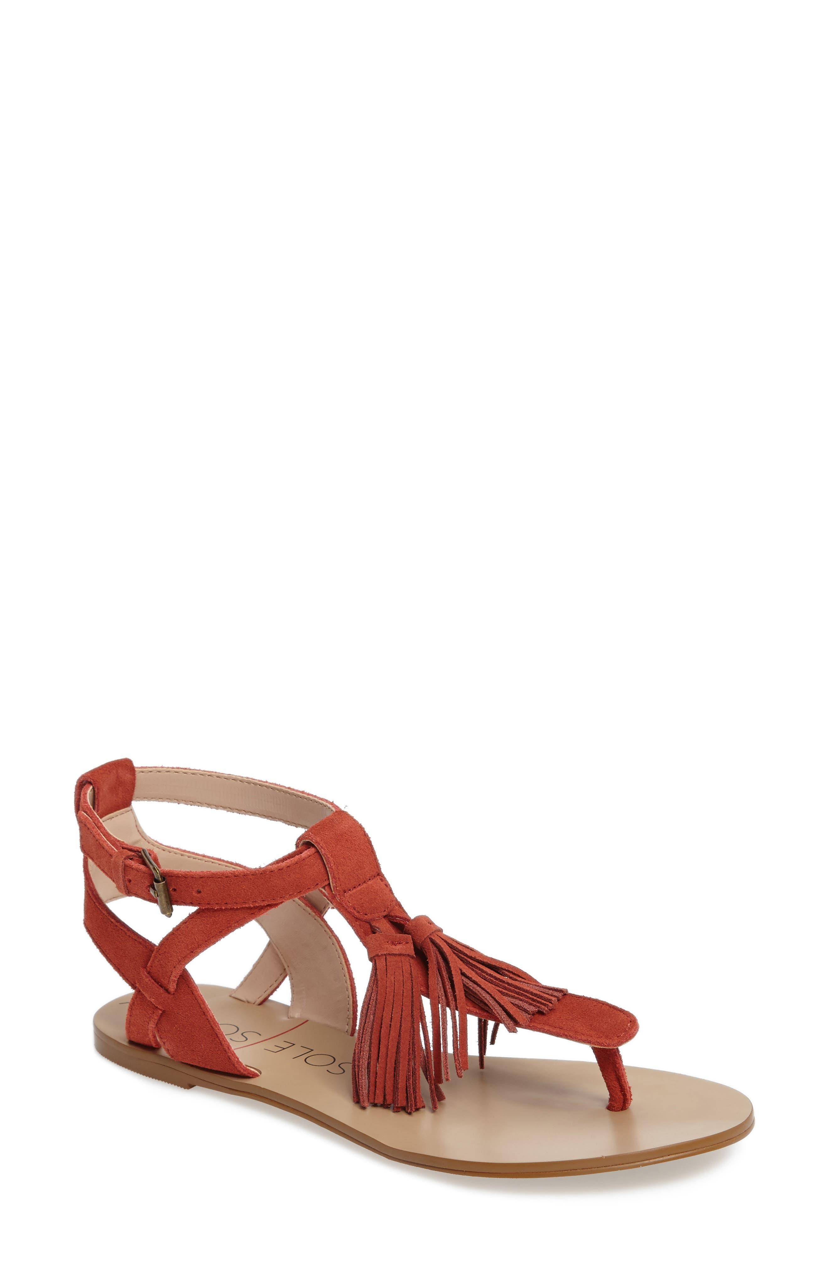 SOLE SOCIETY Pandora Fringe Sandal