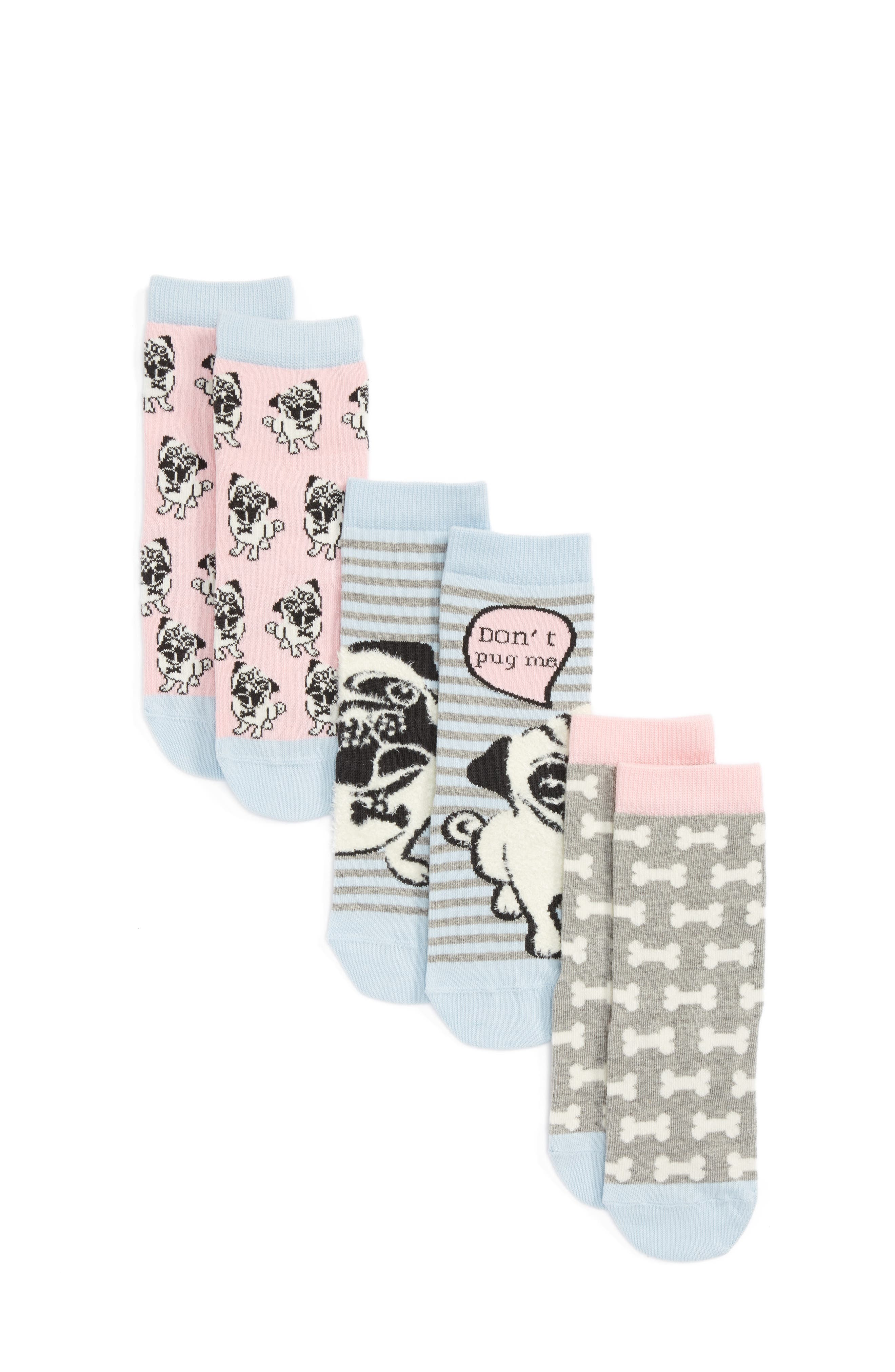Main Image - Tucker + Tate Don't Pug Me Assorted 3-Pack Socks