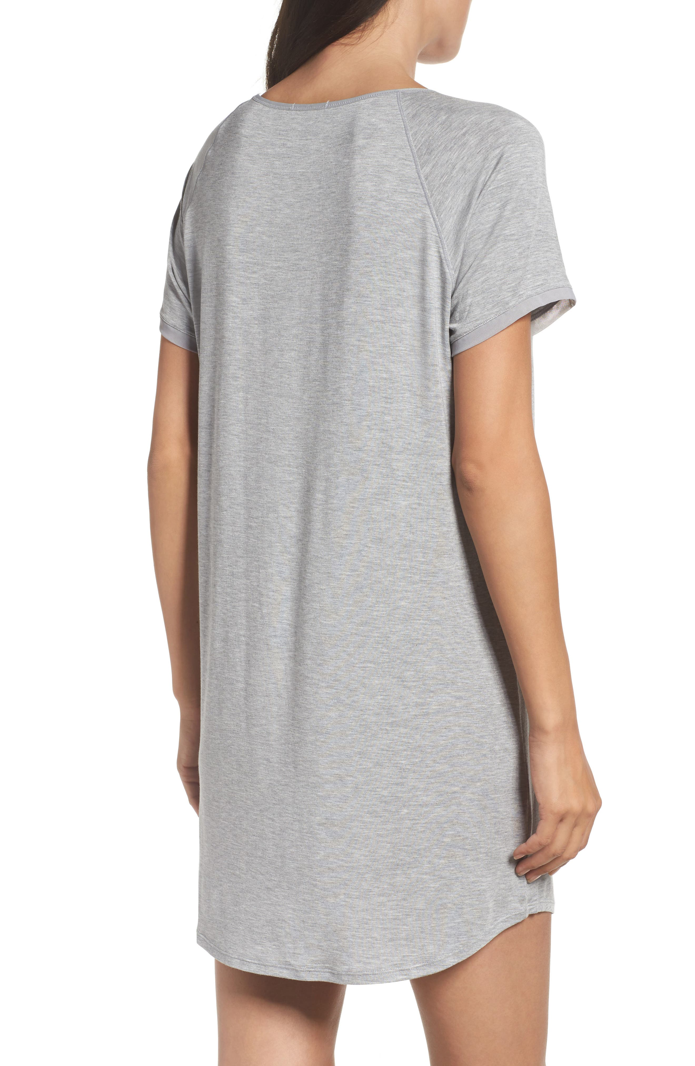 Sleep Shirt,                             Alternate thumbnail 2, color,                             Light Grey Heather