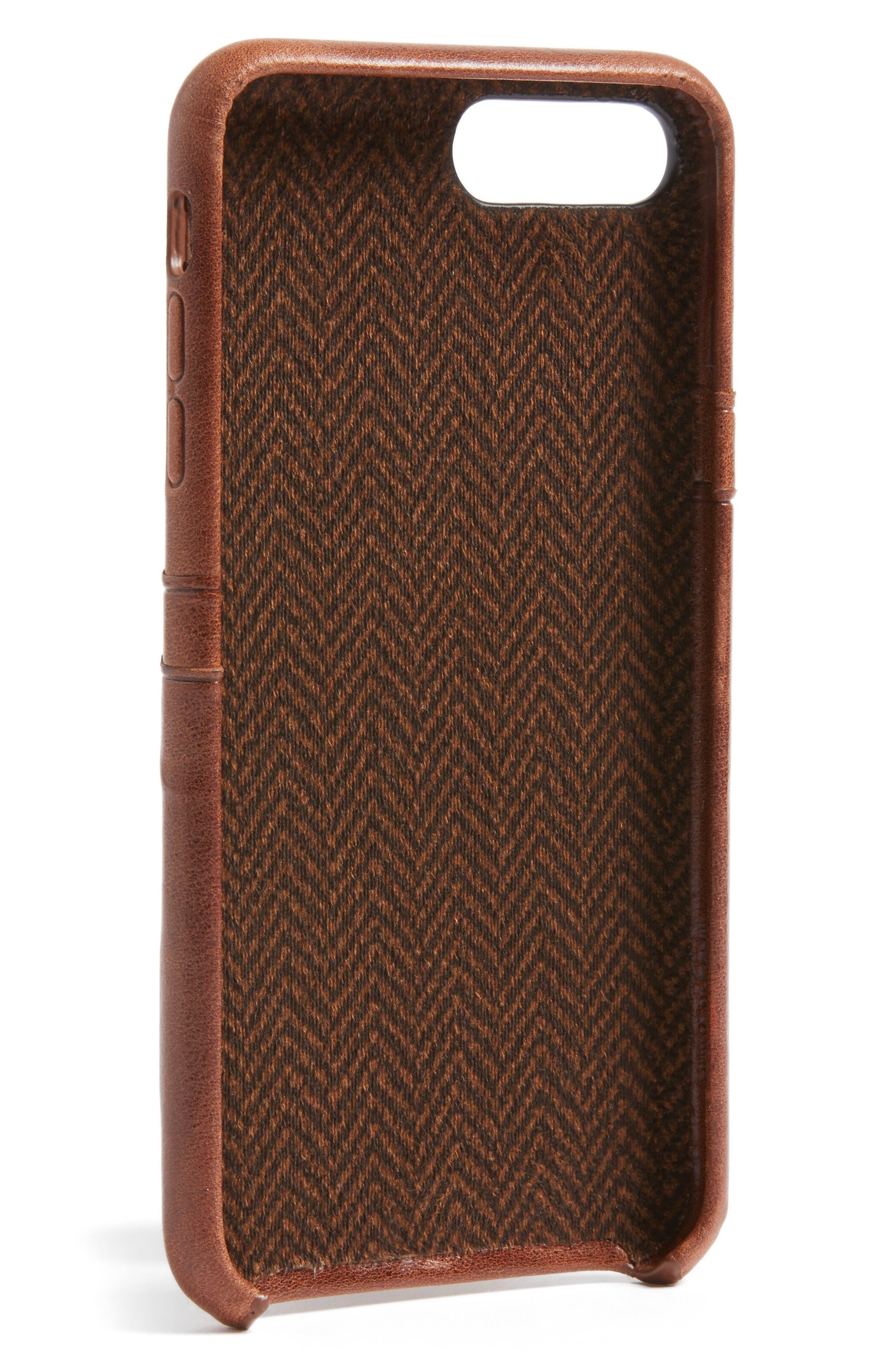 iPhone 7/8 Plus Snap-On Wallet Case,                             Alternate thumbnail 2, color,                             Cognac