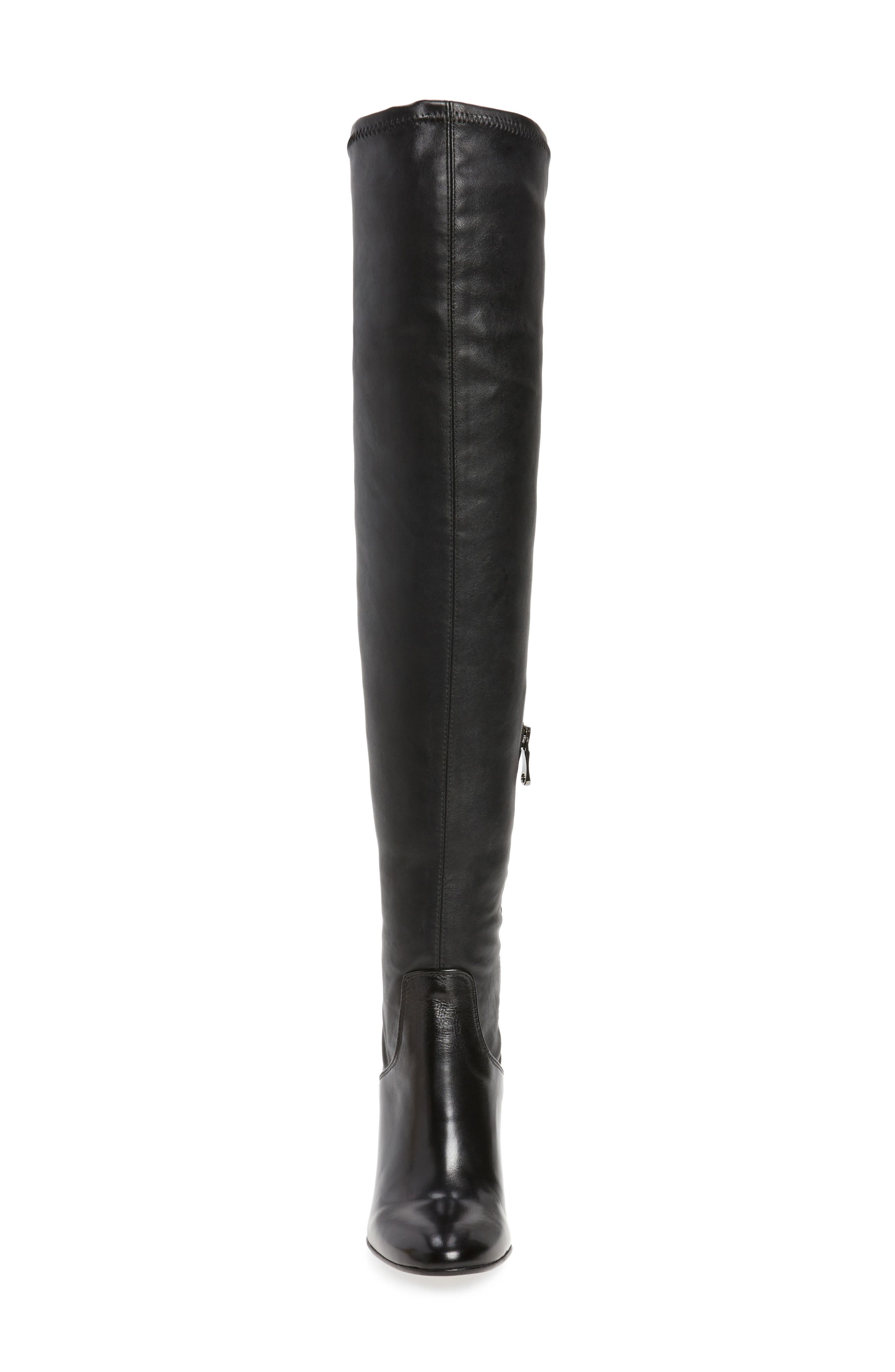 Clarice Over the Knee Boot,                             Alternate thumbnail 5, color,                             Black Leather