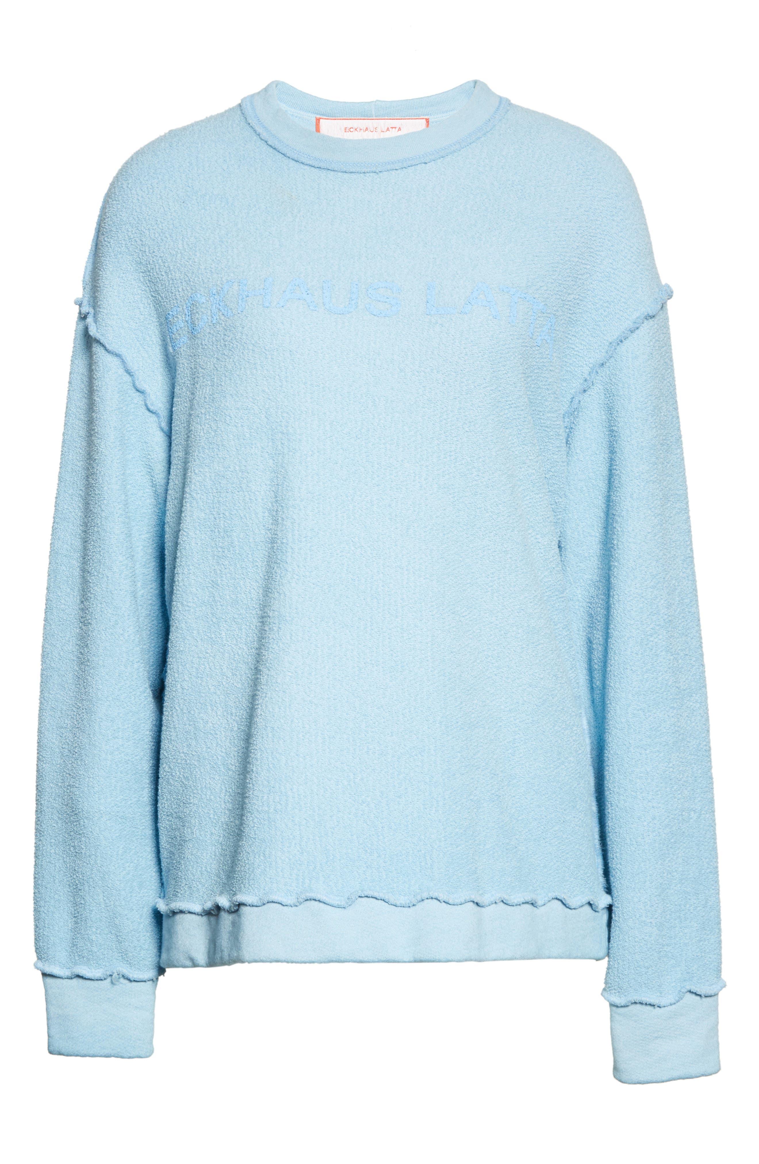 Alternate Image 4  - Eckhaus Latta Drop Shoulder Reverse Terry Sweatshirt