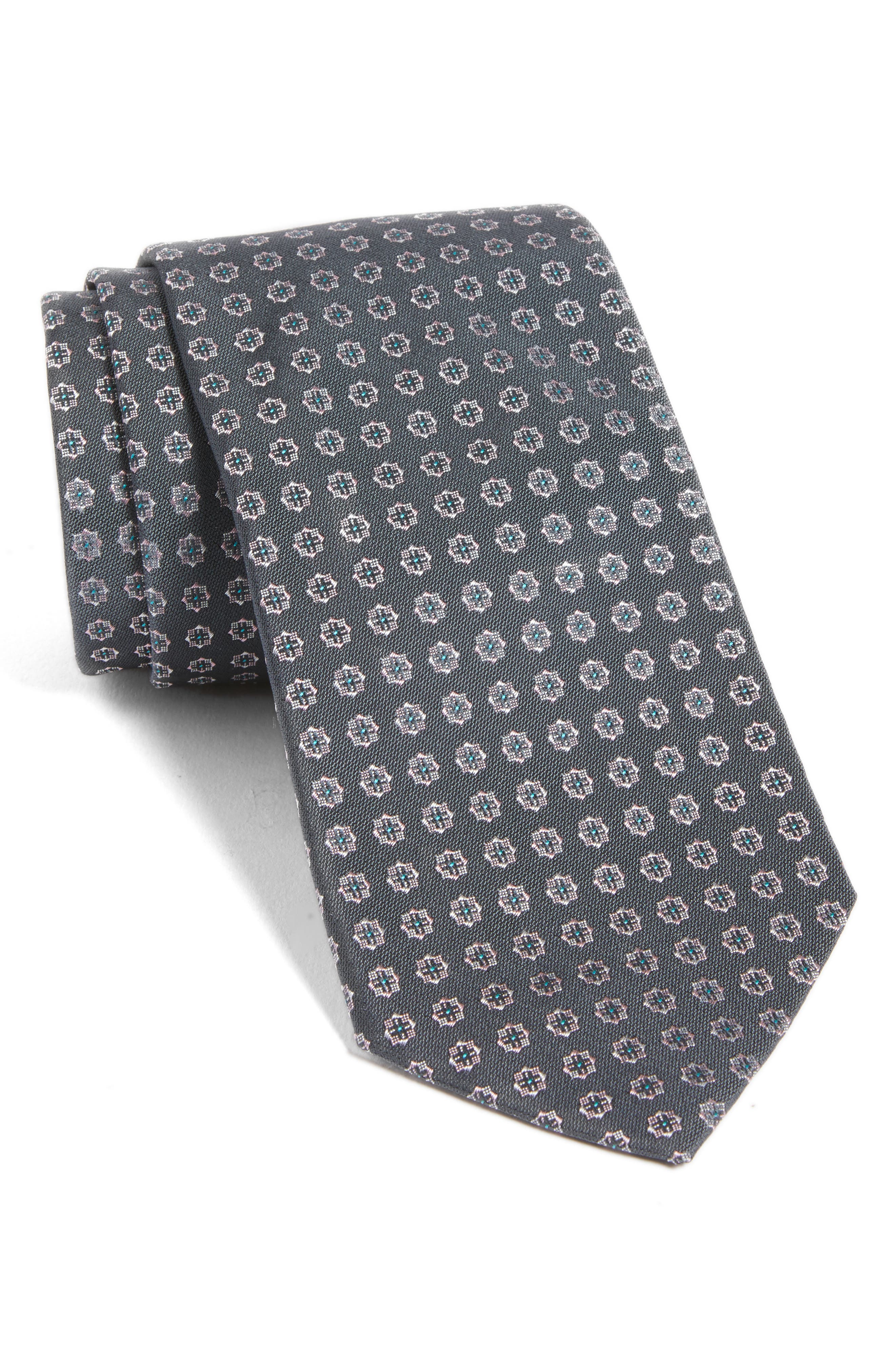 Alternate Image 1 Selected - BOSS Medallion Silk Tie