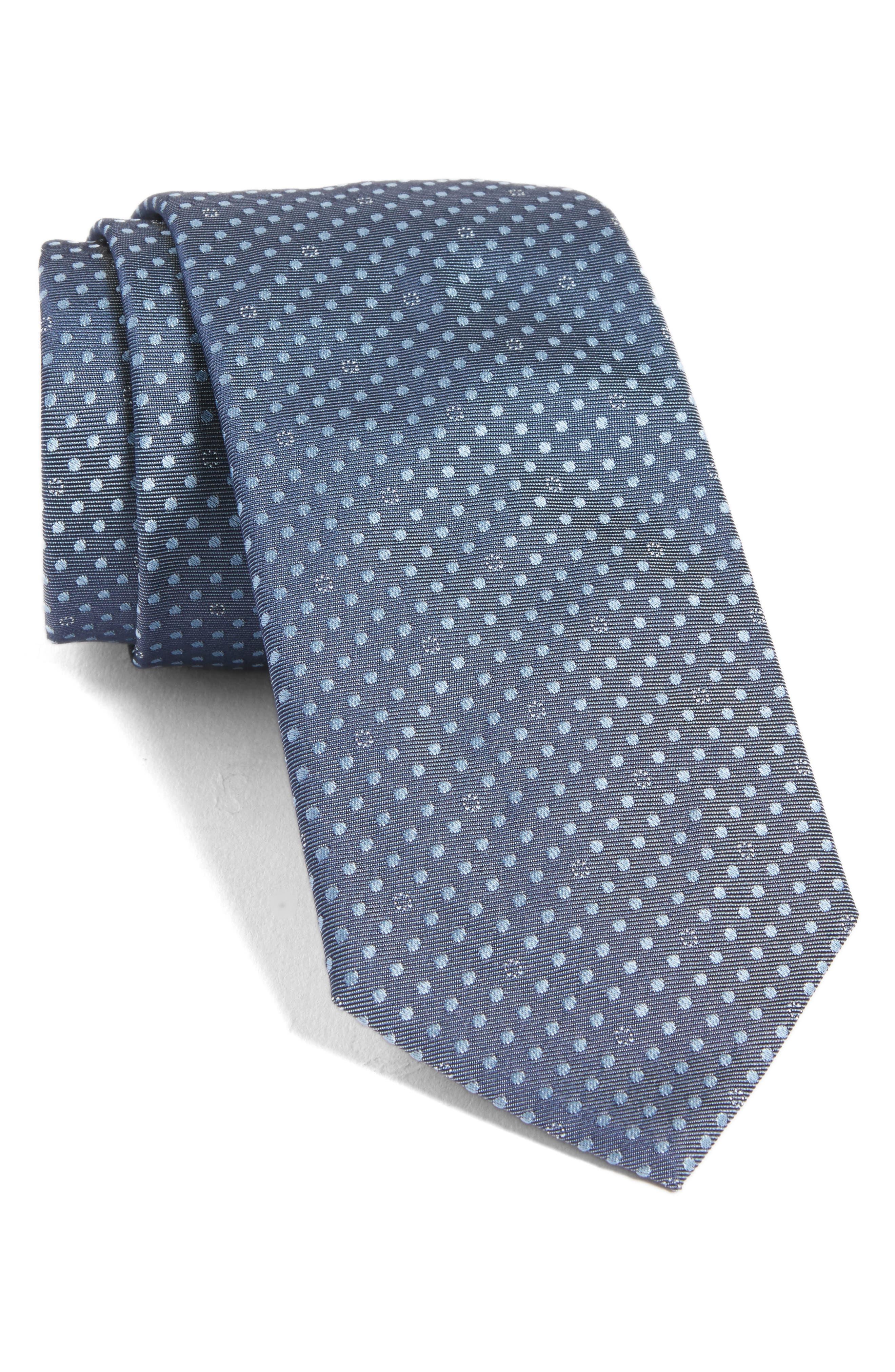 Alternate Image 1 Selected - BOSS Dot Silk Tie