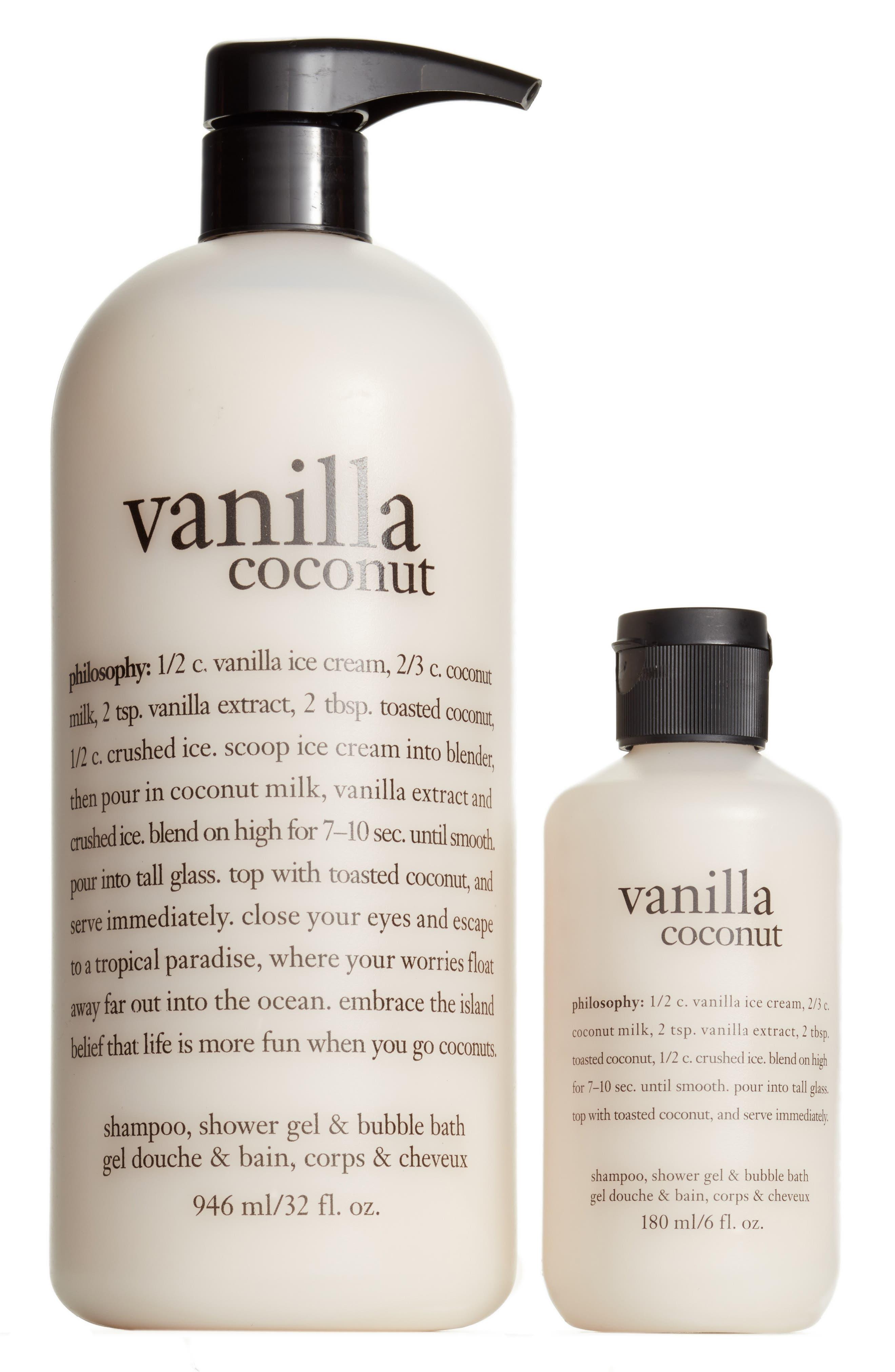 Philosophy Vanilla Coconut Shampoo Shower Gel Bubble Bath Duo Nordstrom Exclusive 39 Value