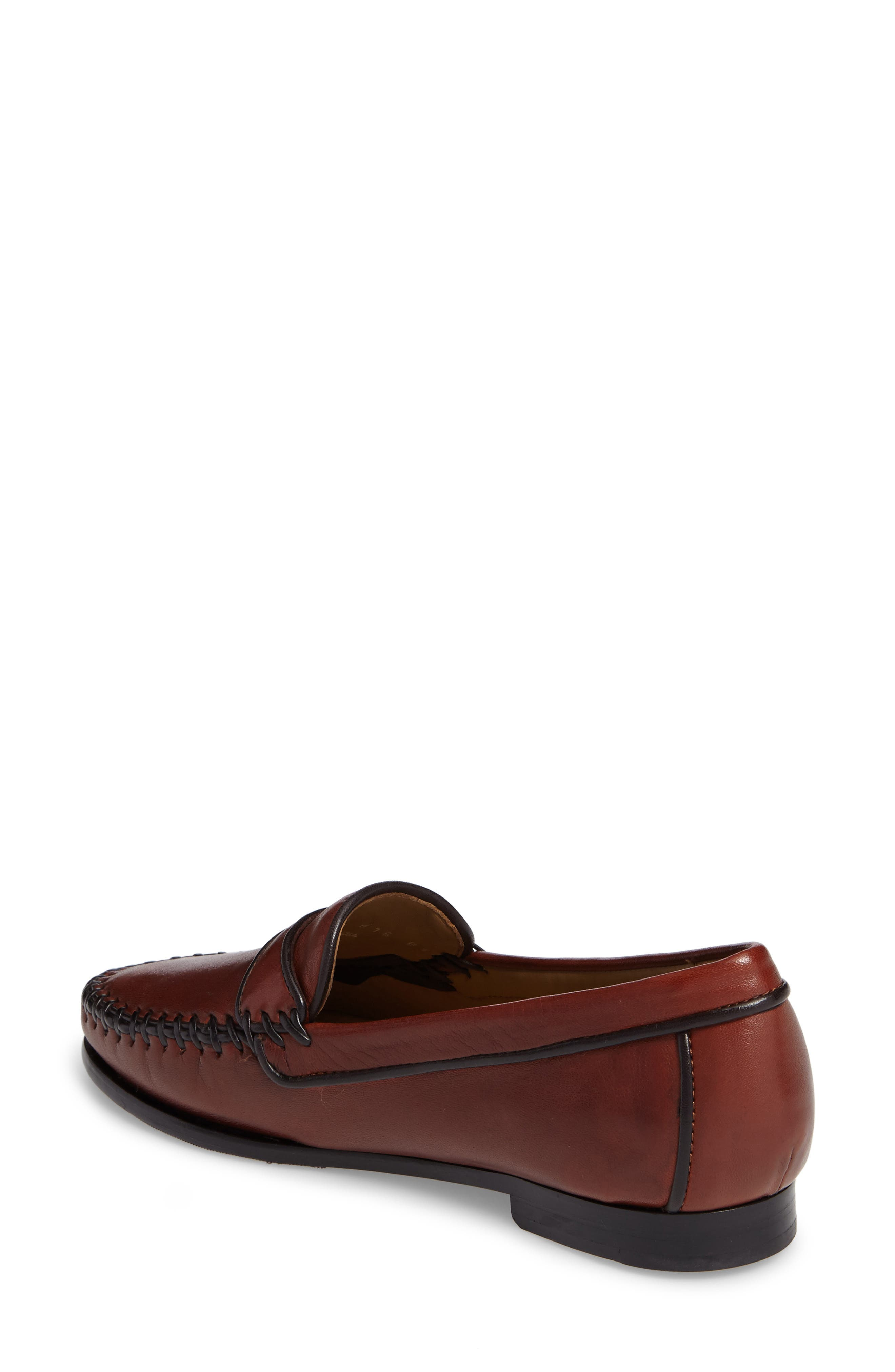 Aria Loafer,                             Alternate thumbnail 2, color,                             Vintage Luggage Leather