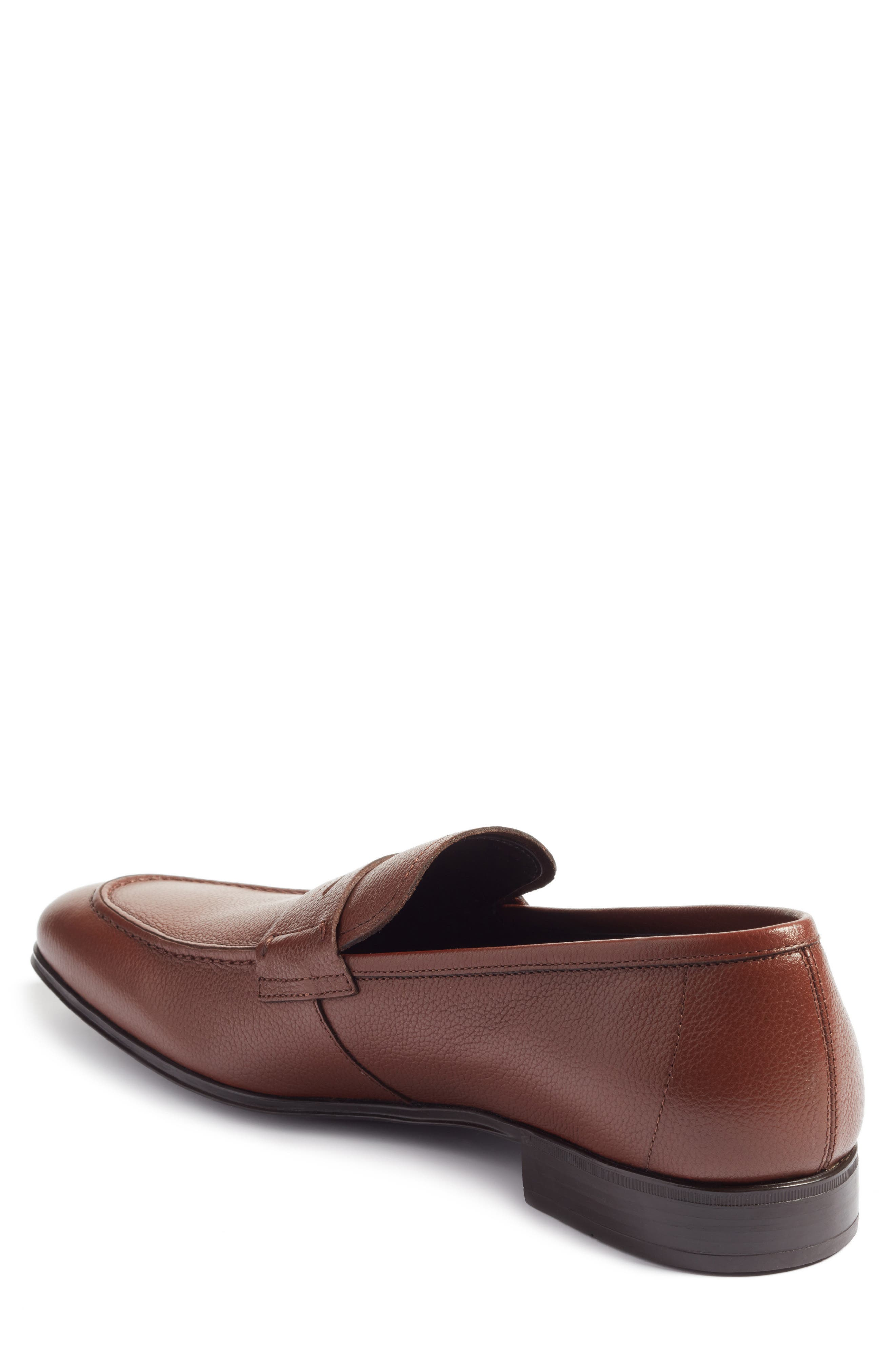 Fiorino 2 Penny Loafer,                             Alternate thumbnail 2, color,                             Dark Cuoio Leather