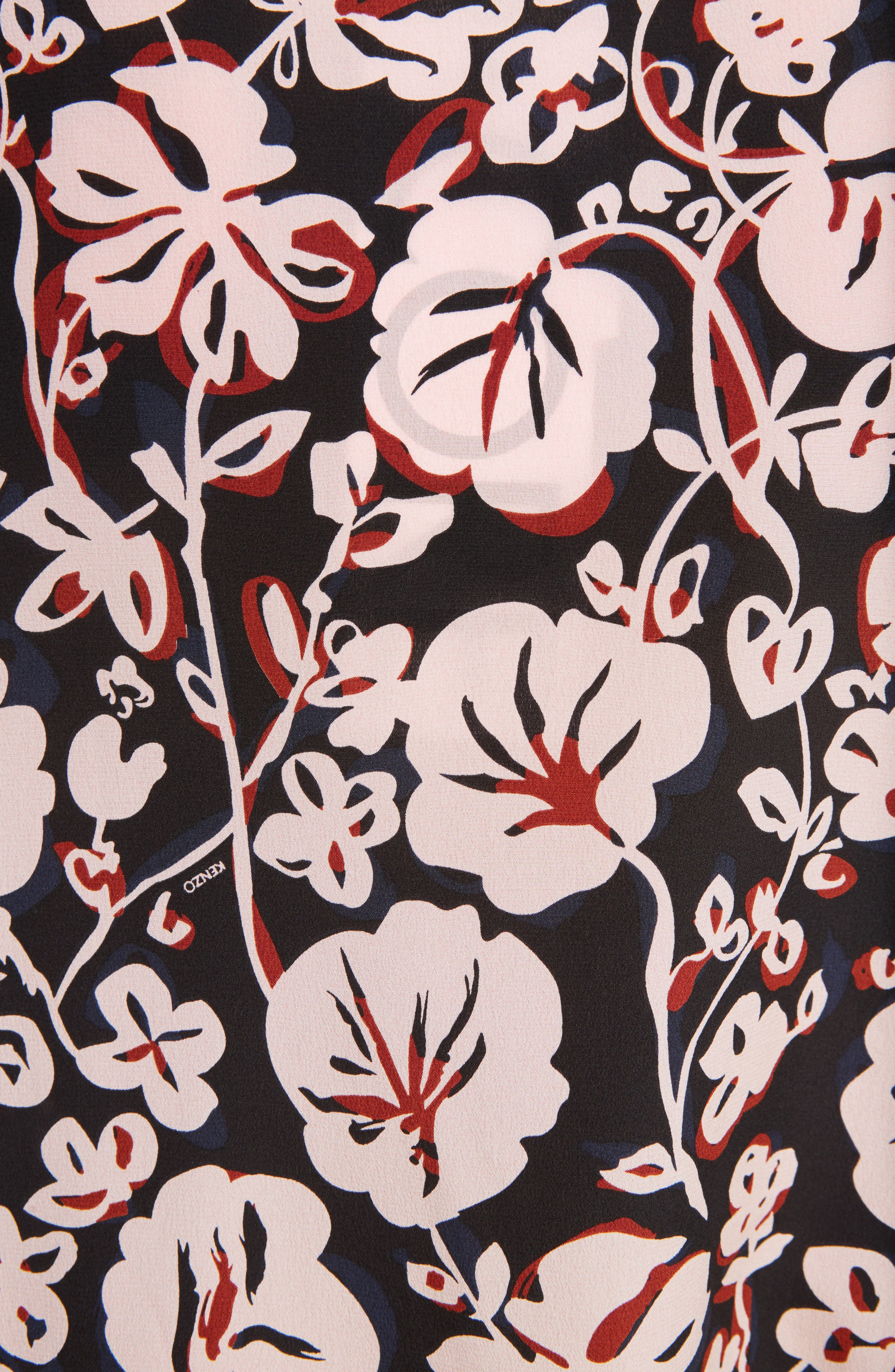Alternate Image 6  - KENZO Floral Print Silk Shirt