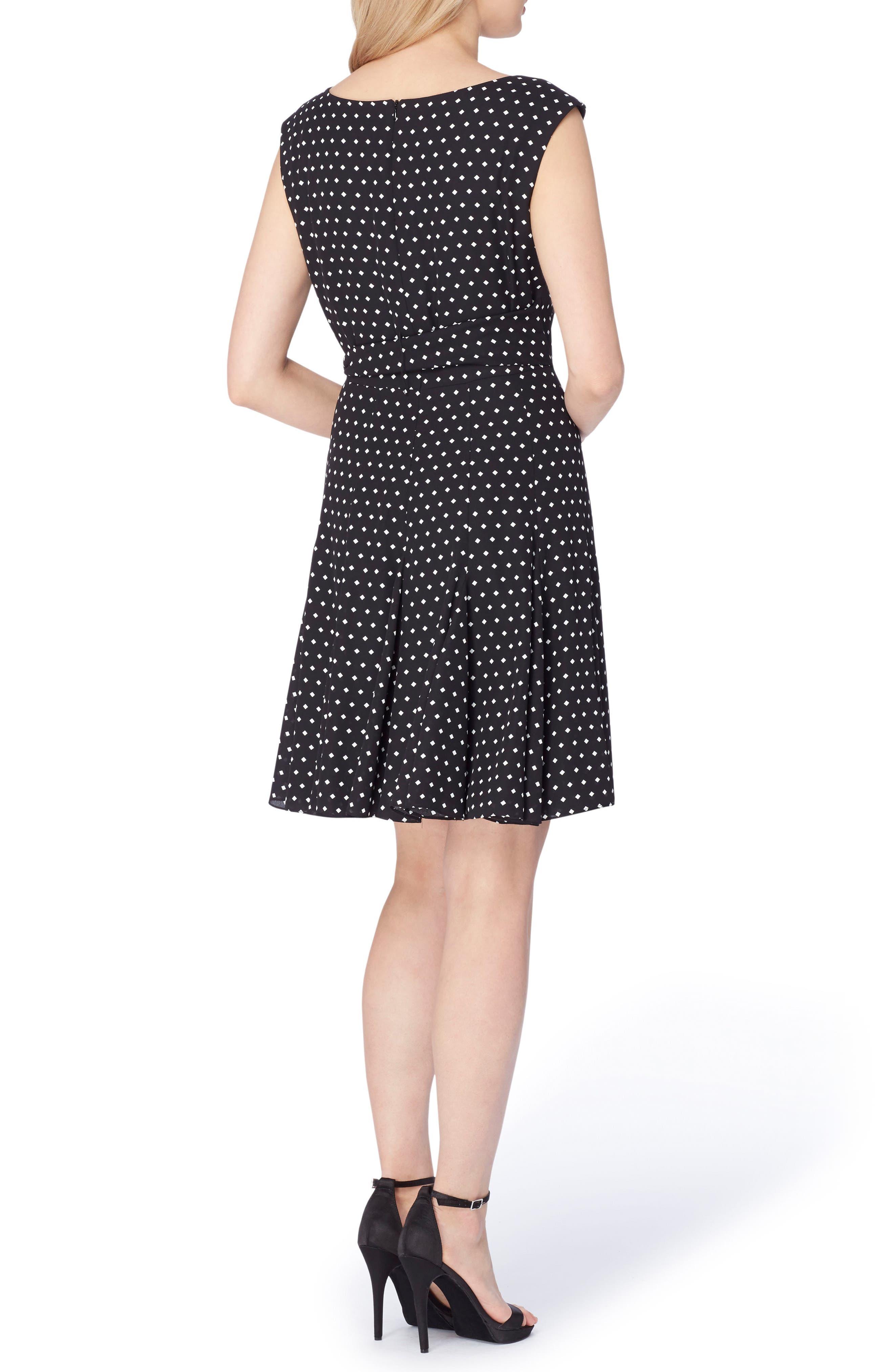 Alternate Image 2  - Tahari Fit & Flare Dress (Regular & Petite)